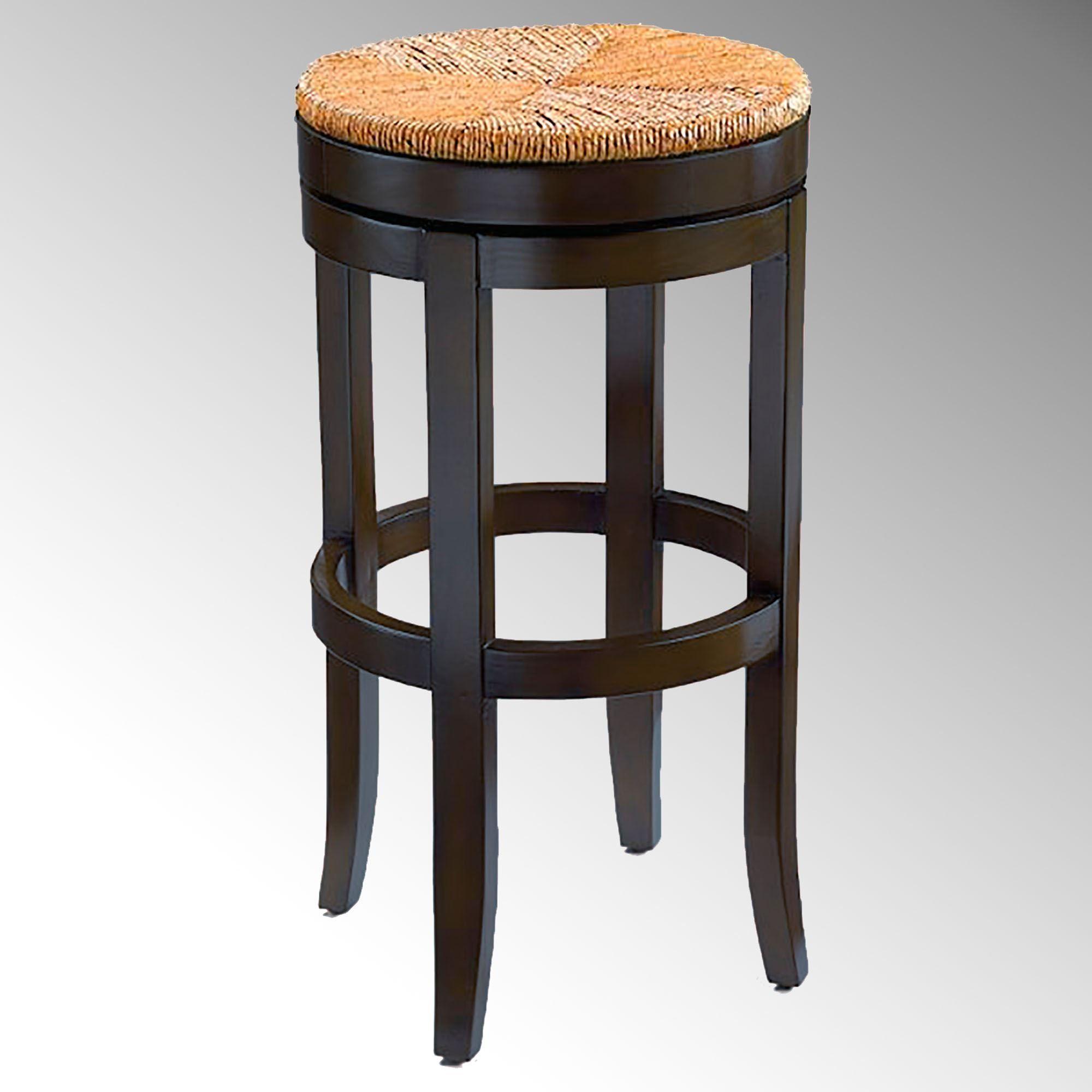 Oriana swivel bar stool black