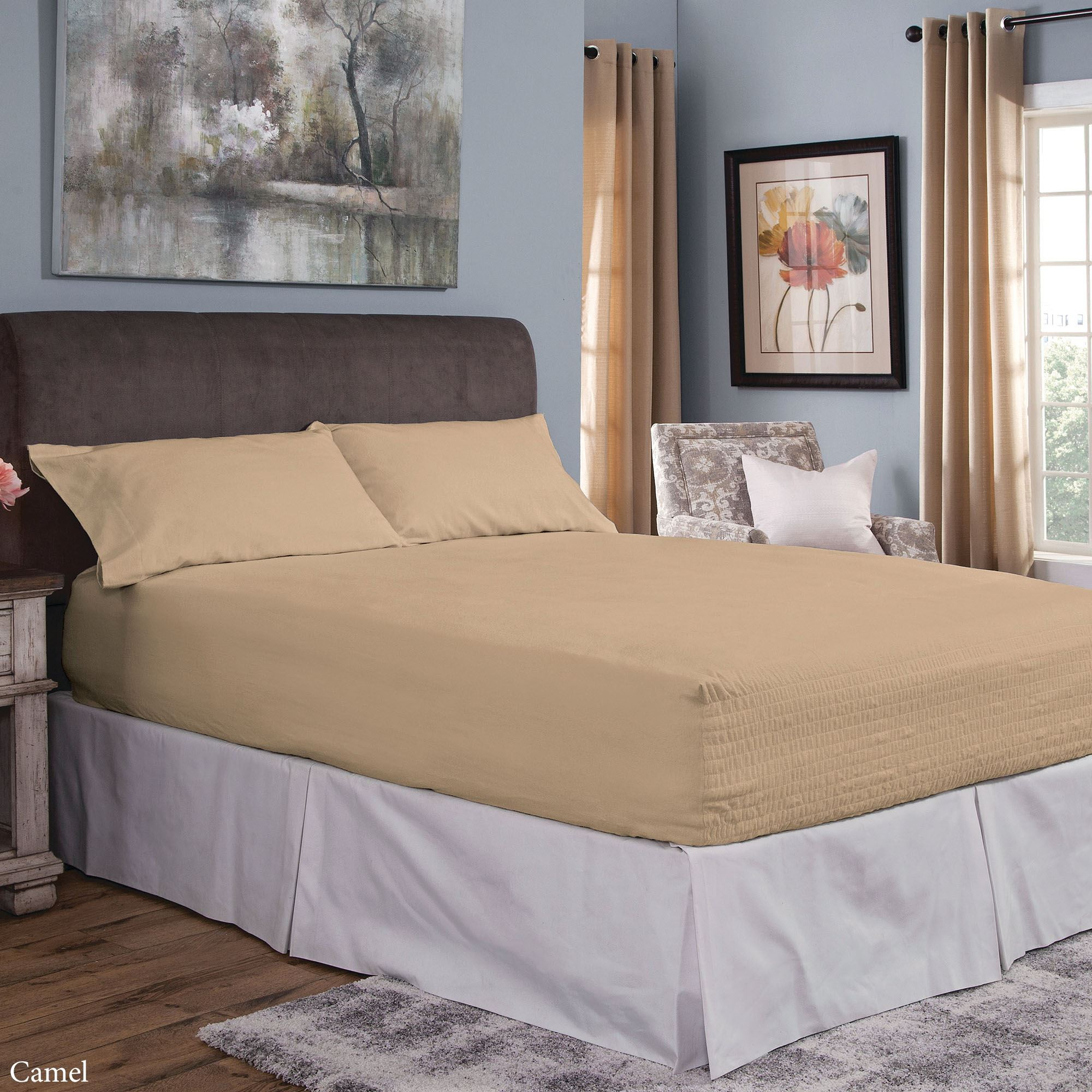 Tropical Fitted Sheet Cover with All-Round Elastic Pocket in 4 Sizes