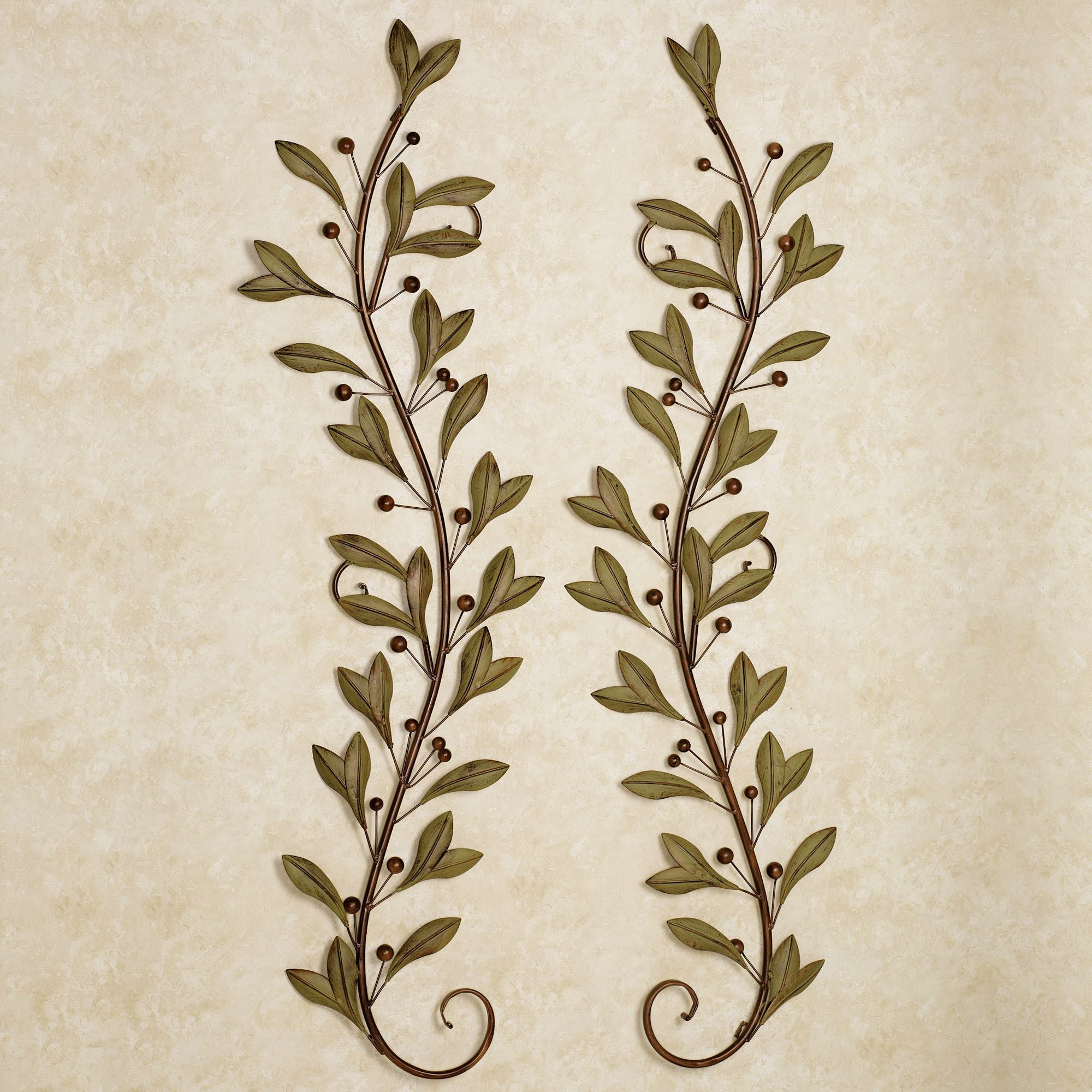 Catalonia Olive Wall Art Set Of Two