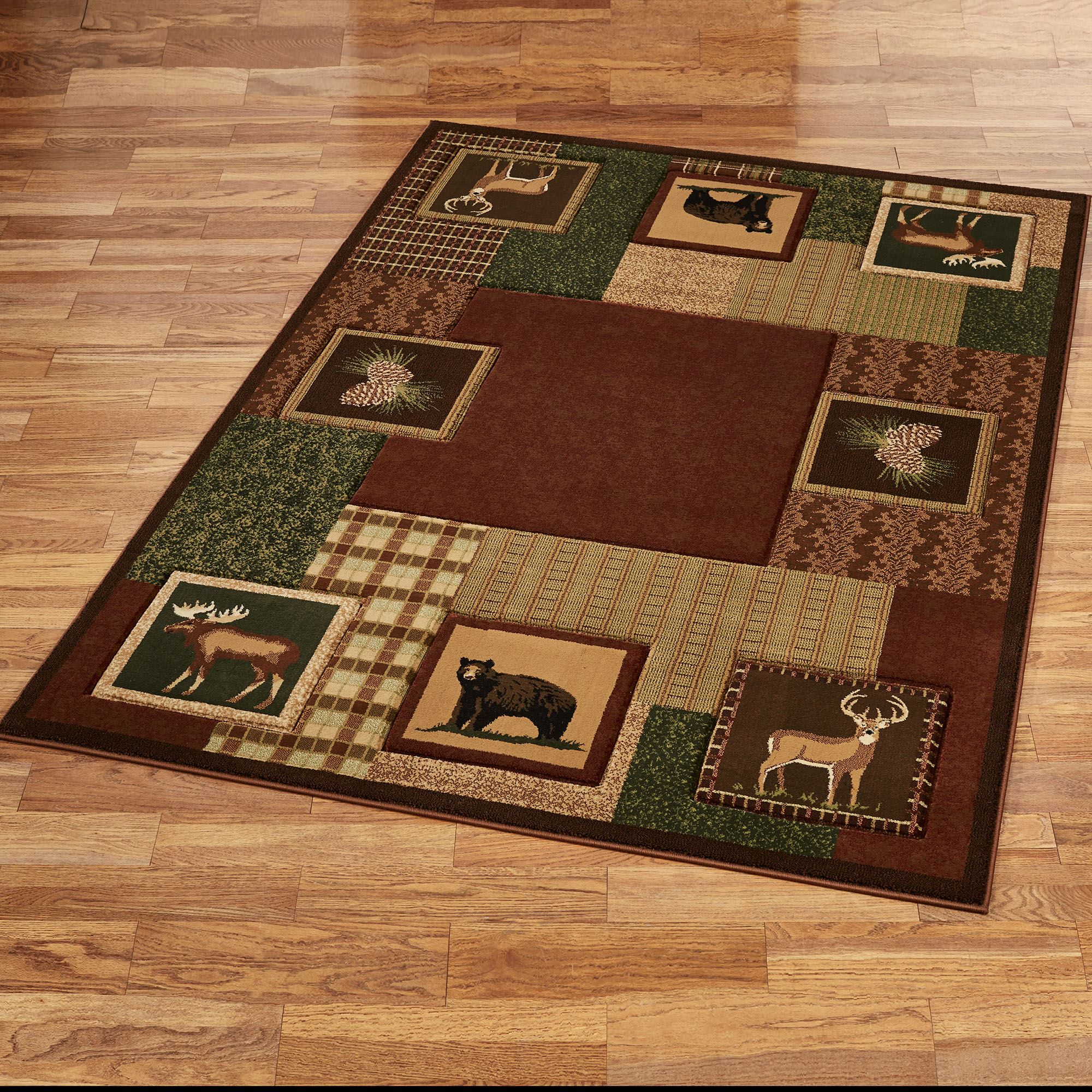 Honan Stain Resistant Rustic Wildlife Area Rugs By Donna Sharp