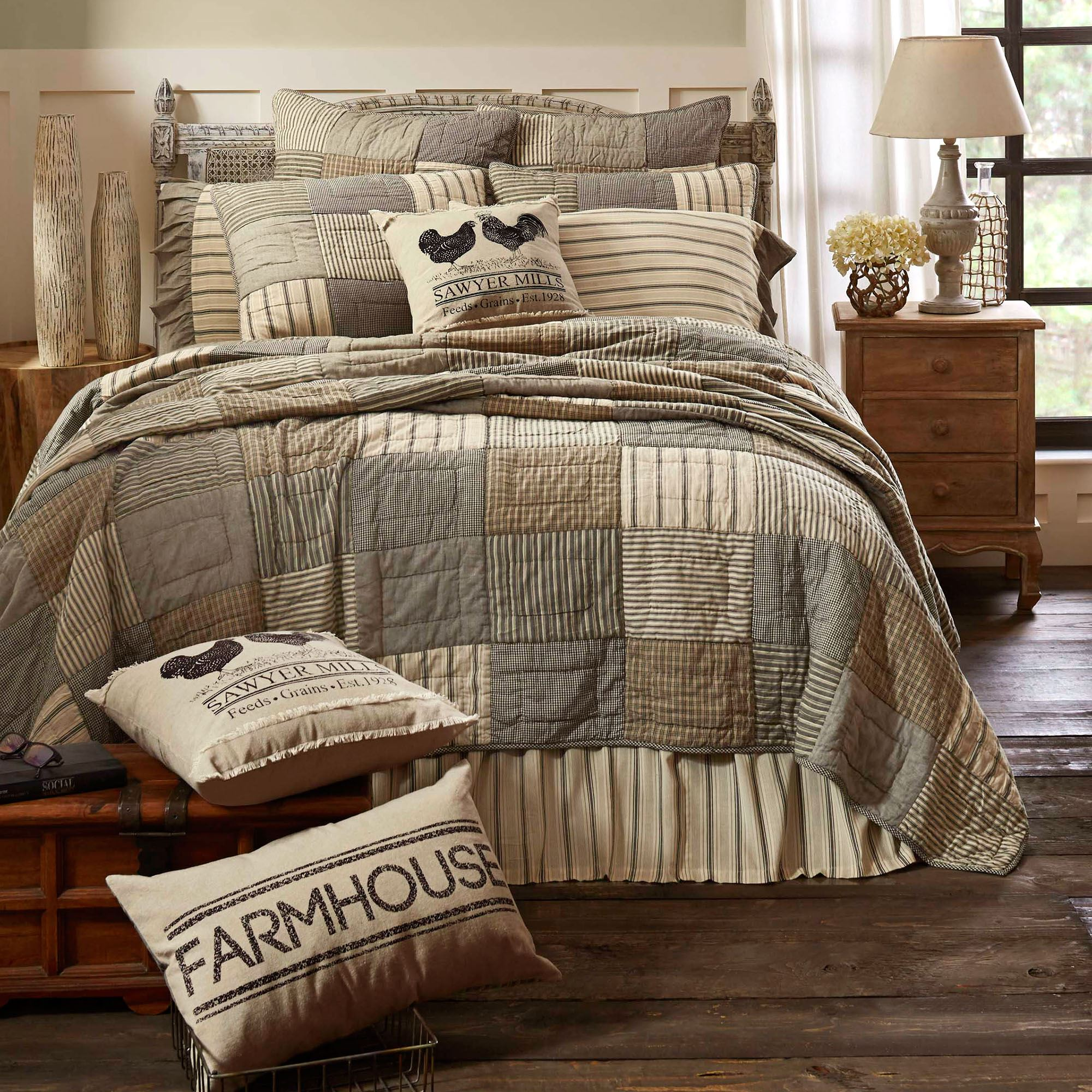 Sawyer Mill Farmhouse Style Patchwork Quilt Bedding By April Olive