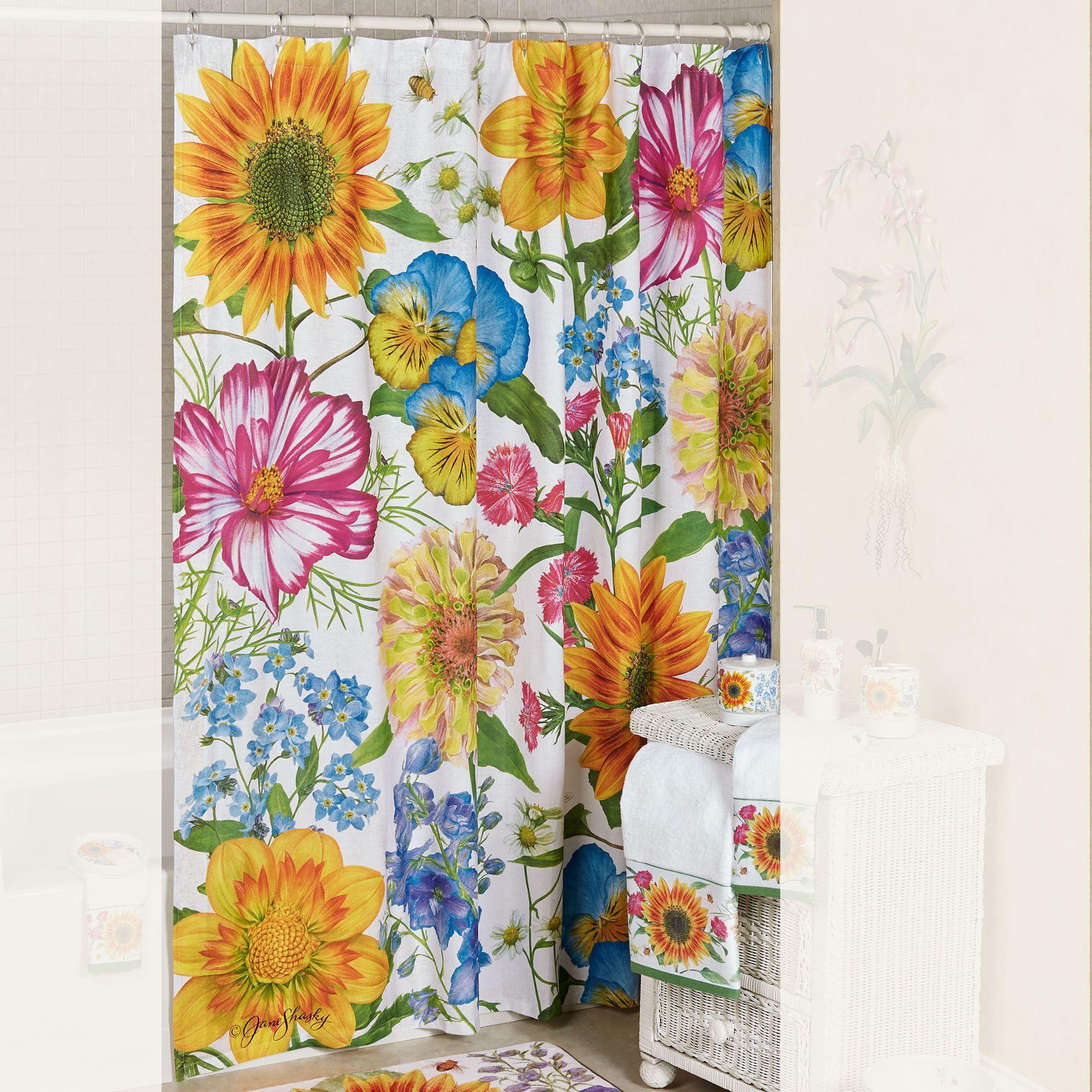 Perennial Shower Curtain Multi Bright 72 X