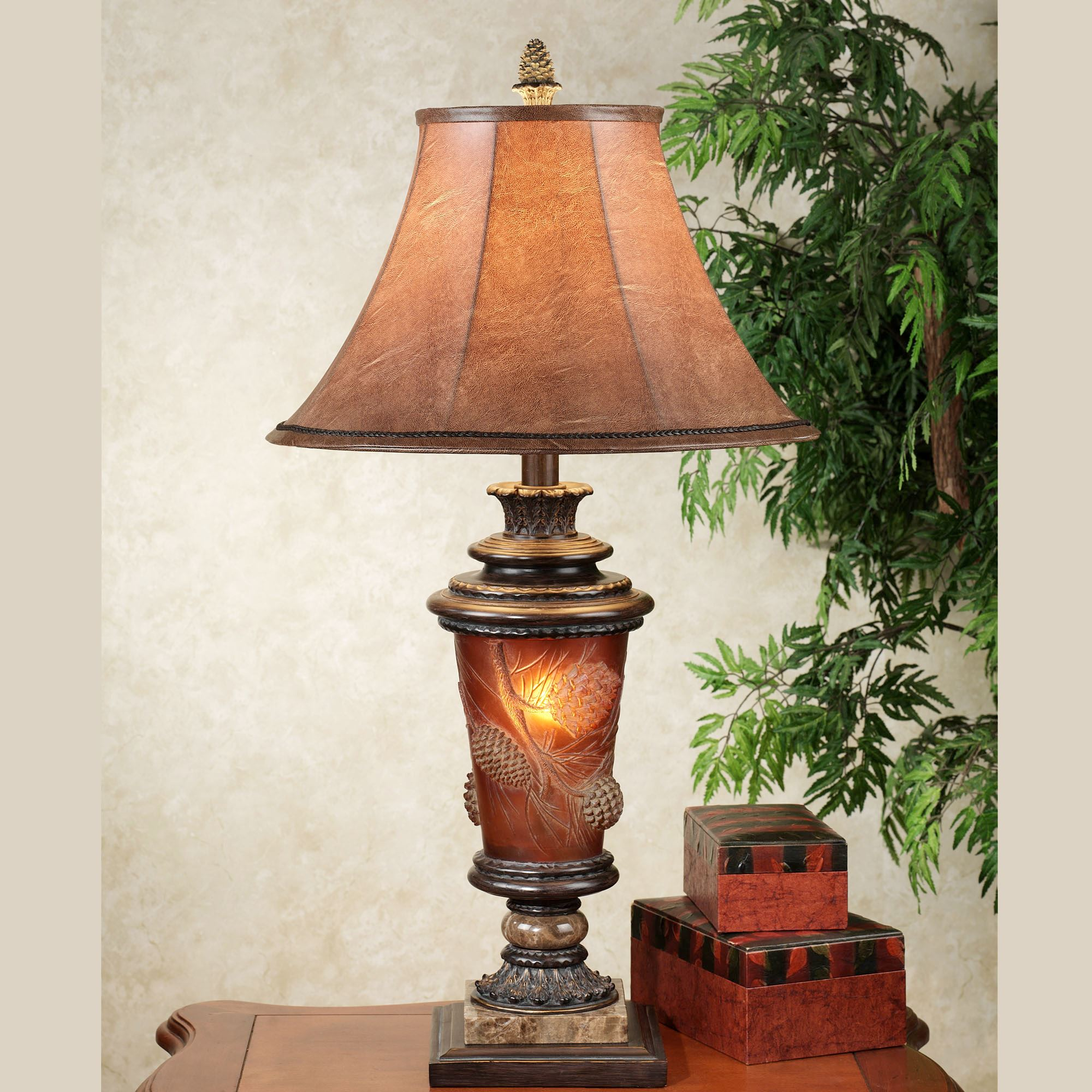 Pine Radiance Table Lamp Bronze. Click To Expand
