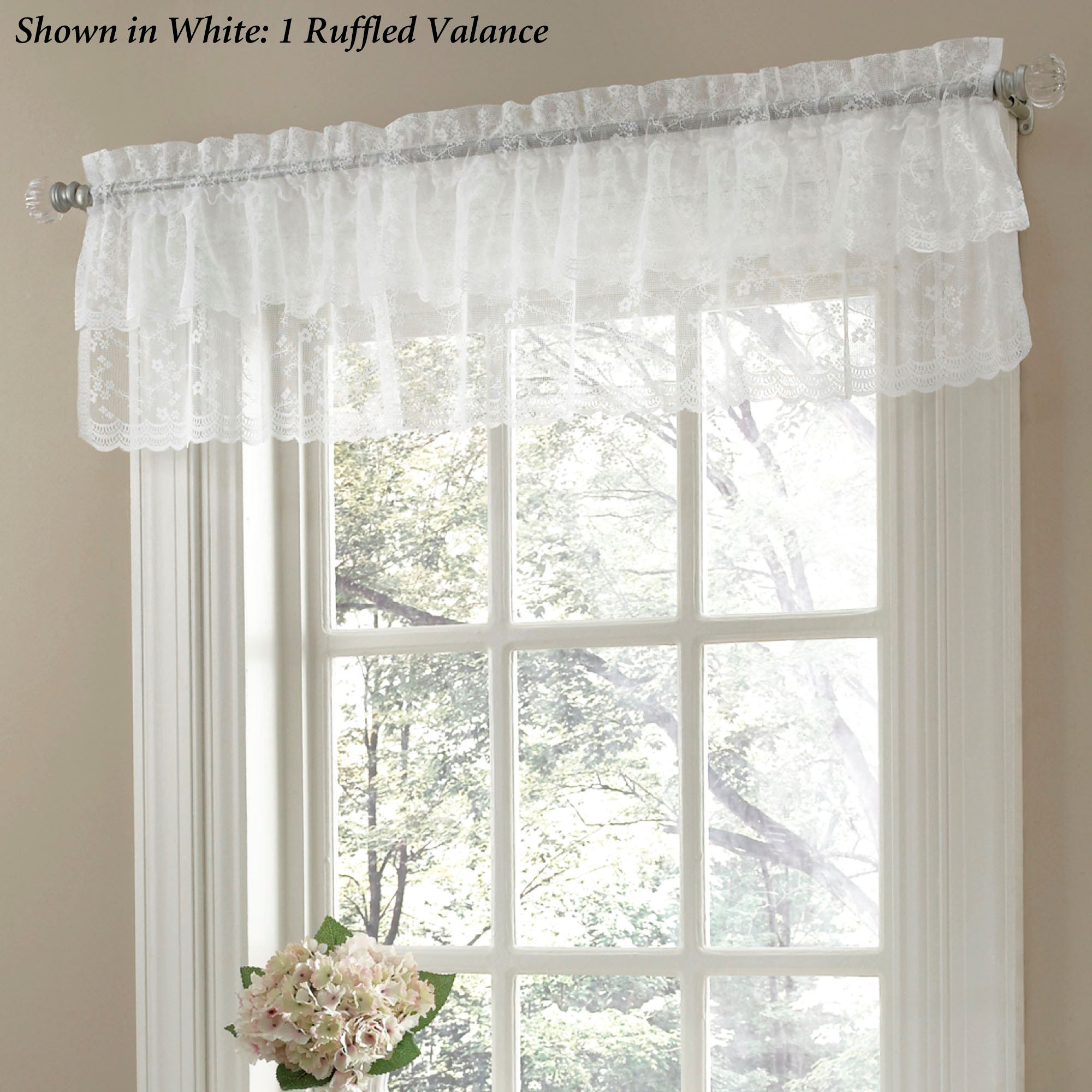 Bridal Lace Ruffled Curtains