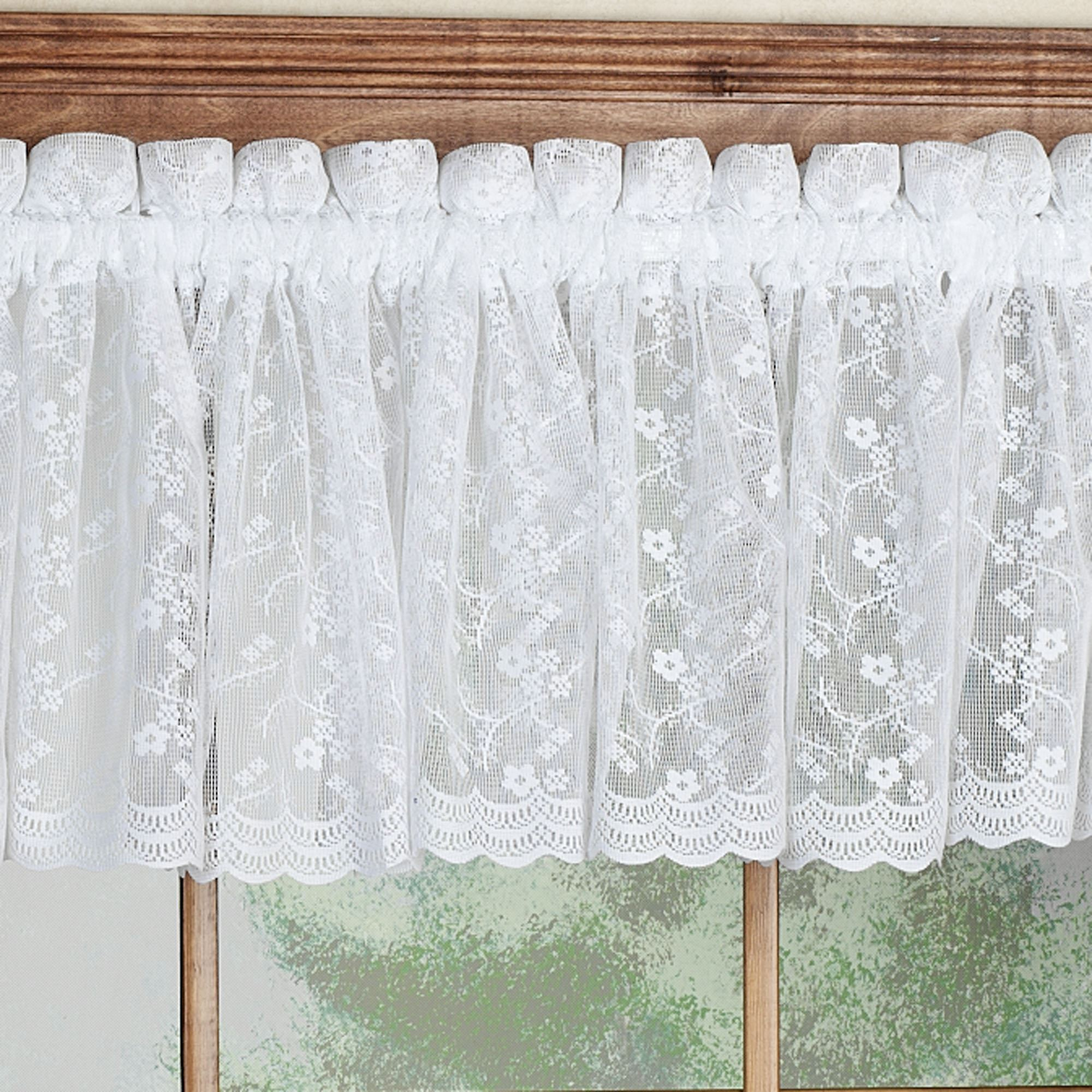vineyard lace p valance swag tier panel pair treatment grapes window