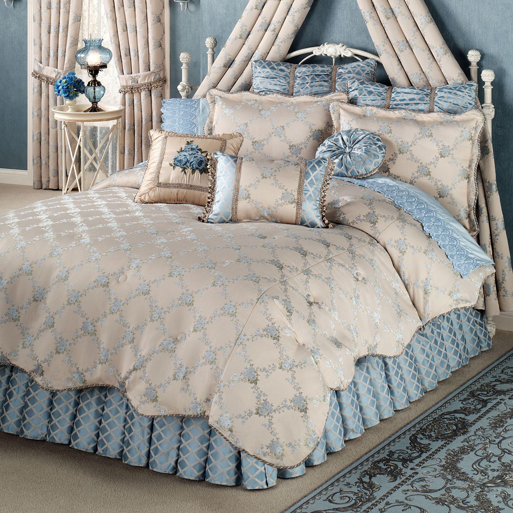 Favorite Blooming Treillage Floral Comforter Bedding JY28