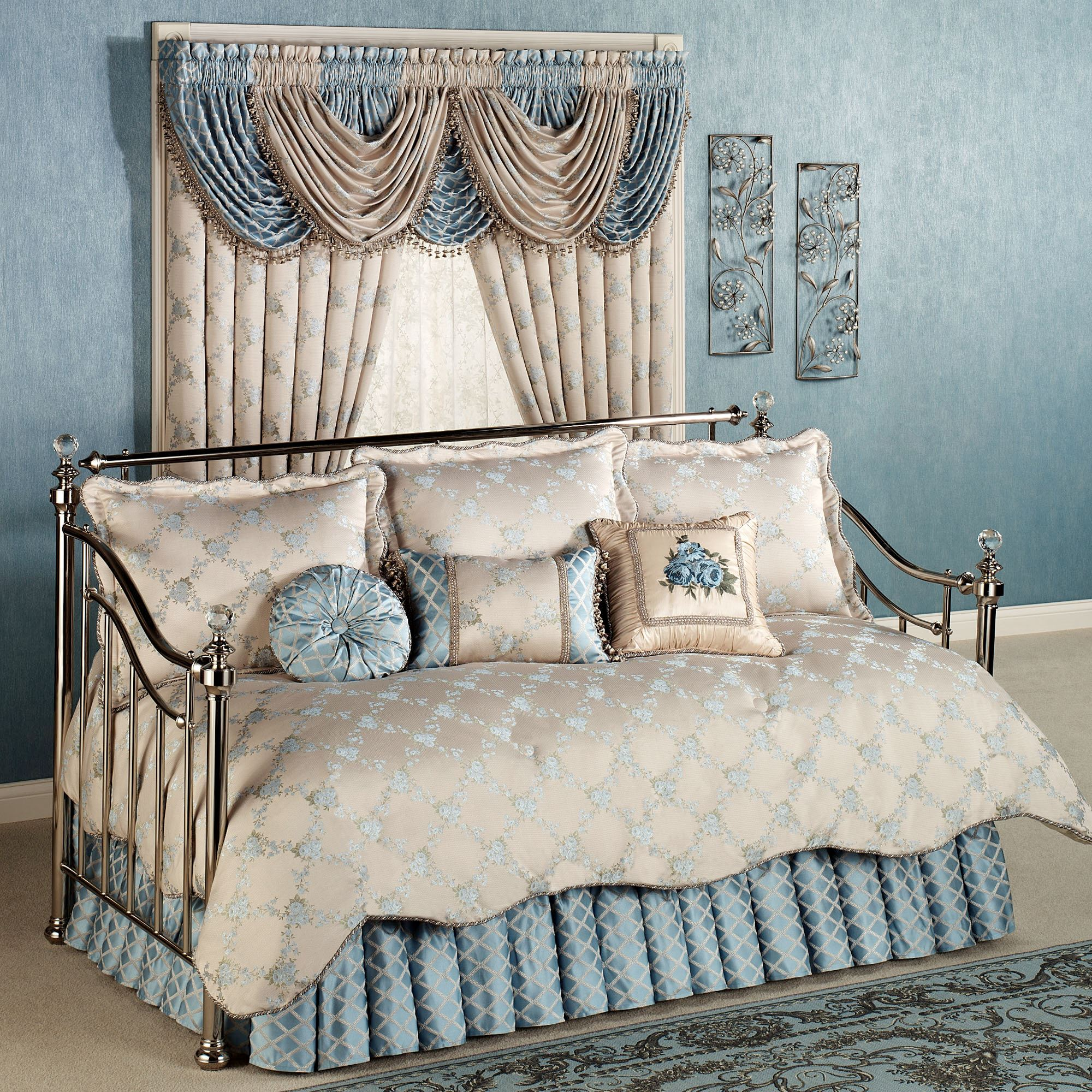 quilted p daybed comforter blue set dusty bedding charm vintage