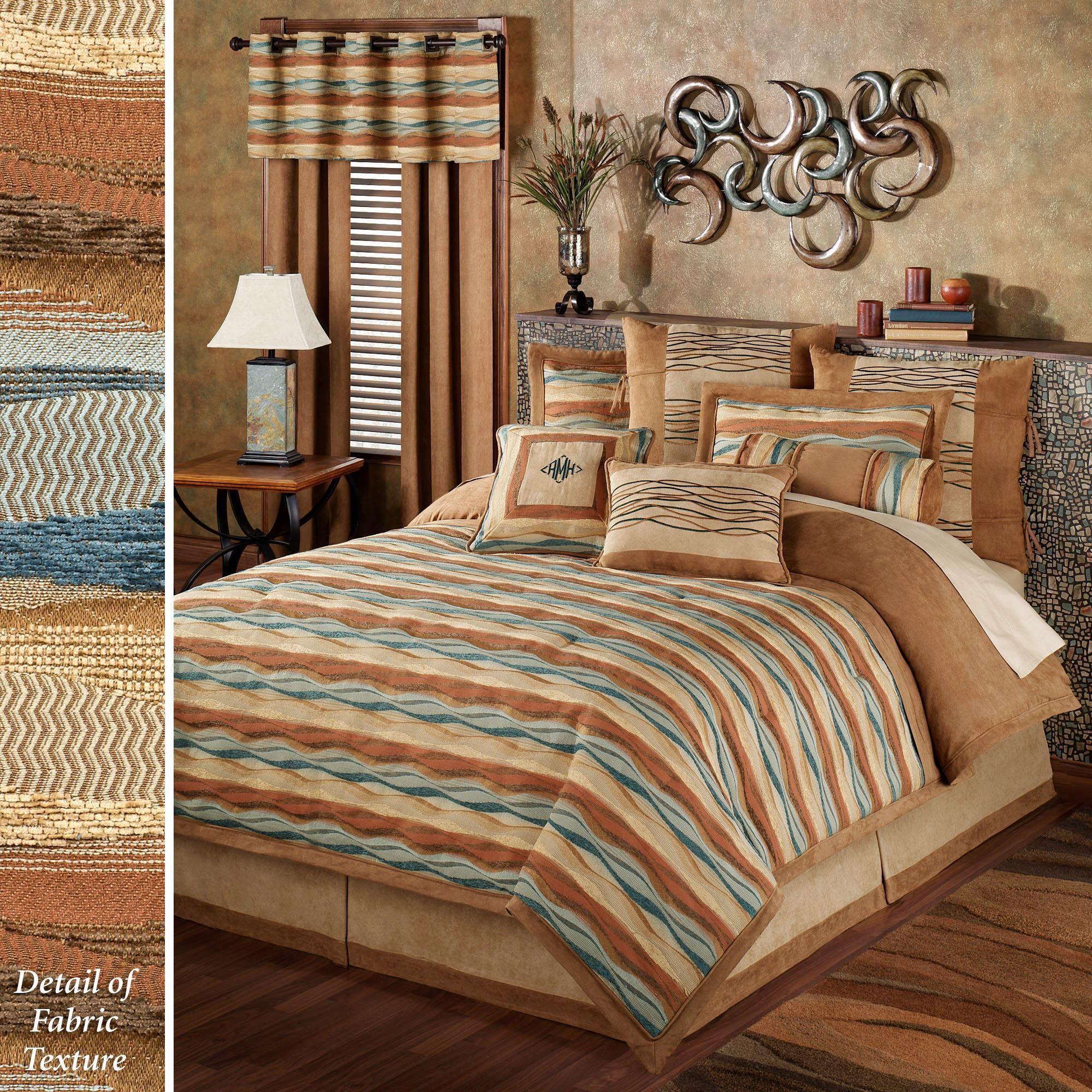 Oasis Wave Striped Comforter Bedding