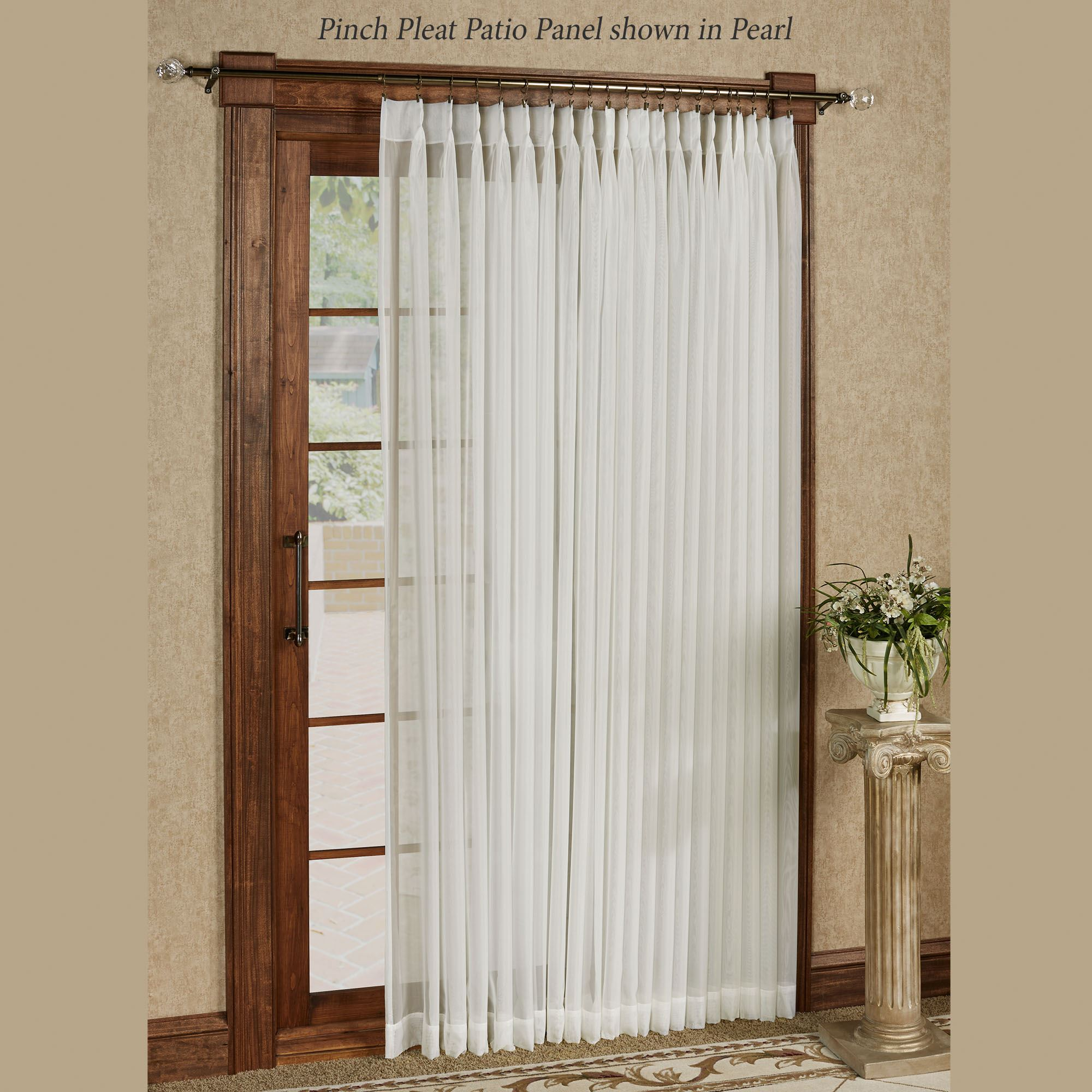 Larvotto Pinch Pleated Patio Panel 96 X 84 Click To Expand