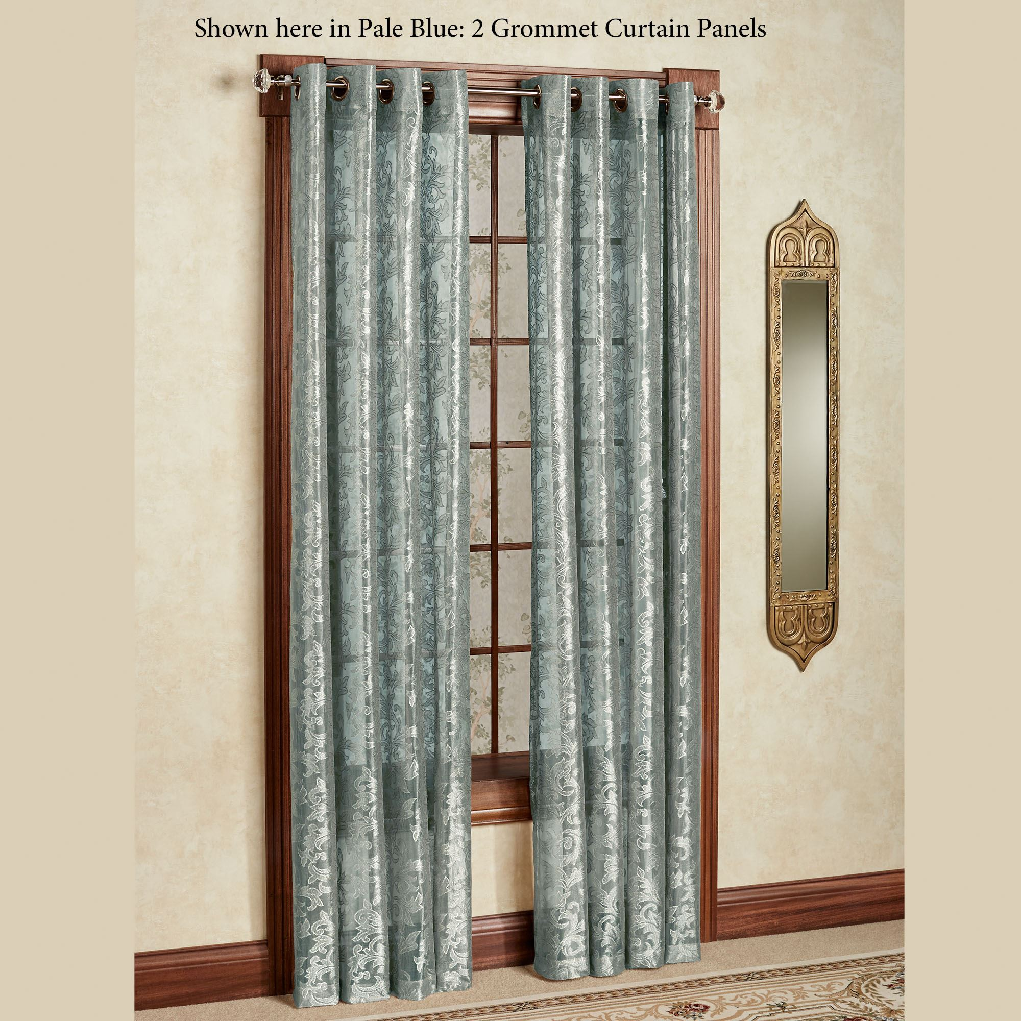 Royal Lace Grommet Curtain Panel