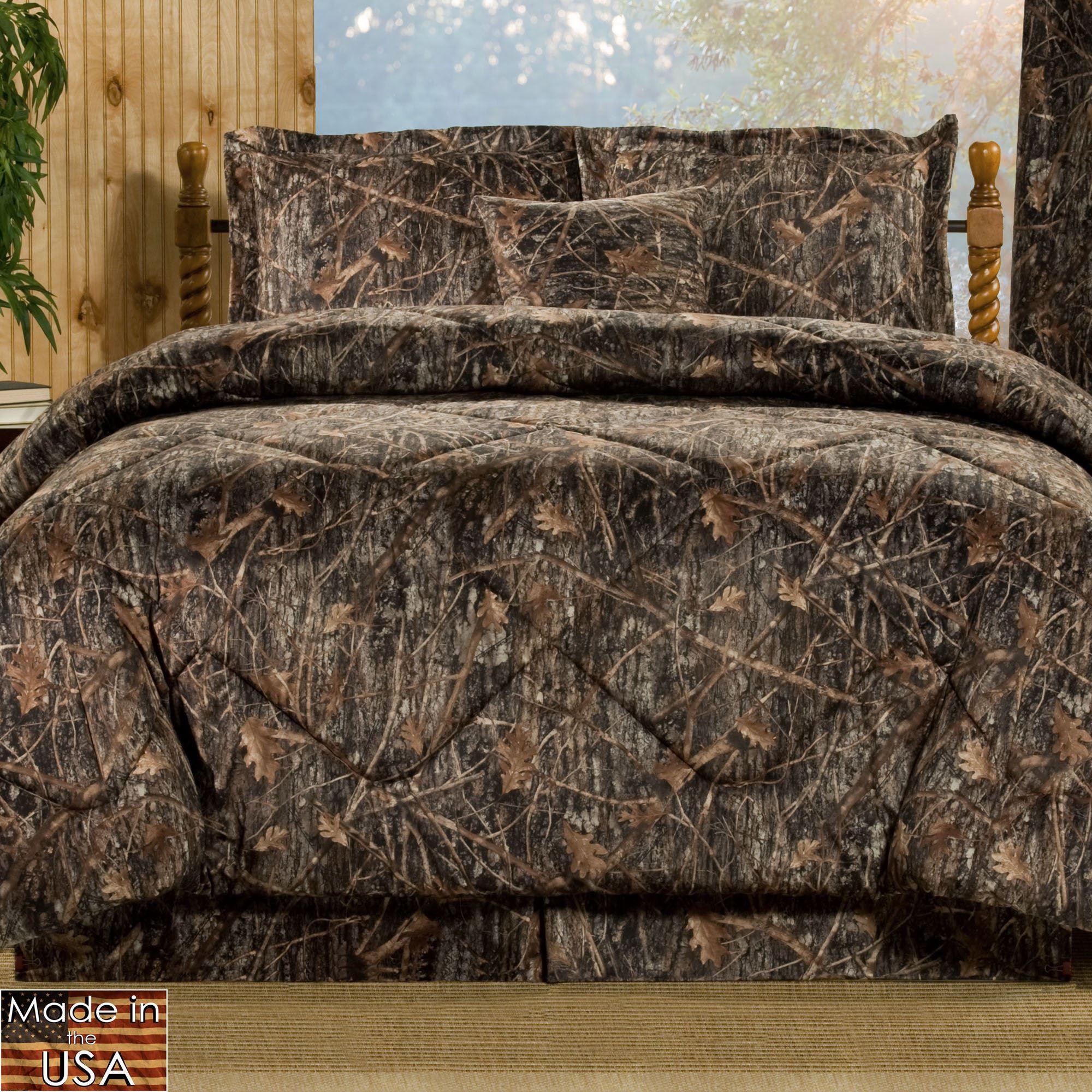 Conceal Brown Rustic Camo Mini Comforter Set Bedding