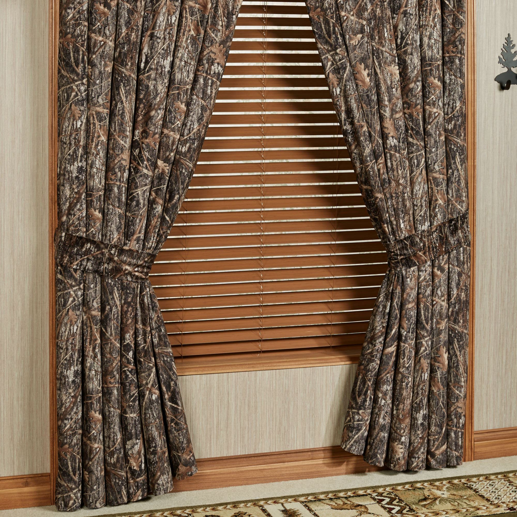 Conceal Brown Rustic Camo Window Treatment