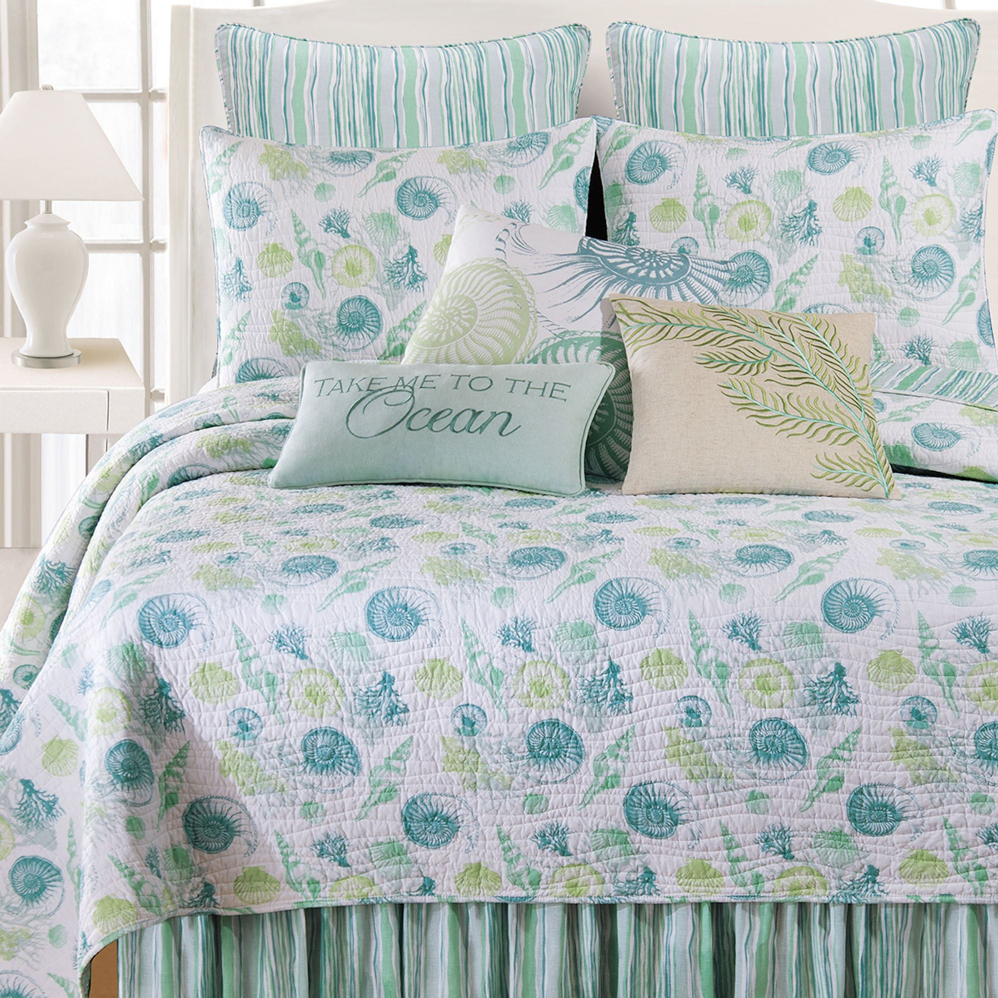 St Augustine Coastal Seashell Quilt Bedding