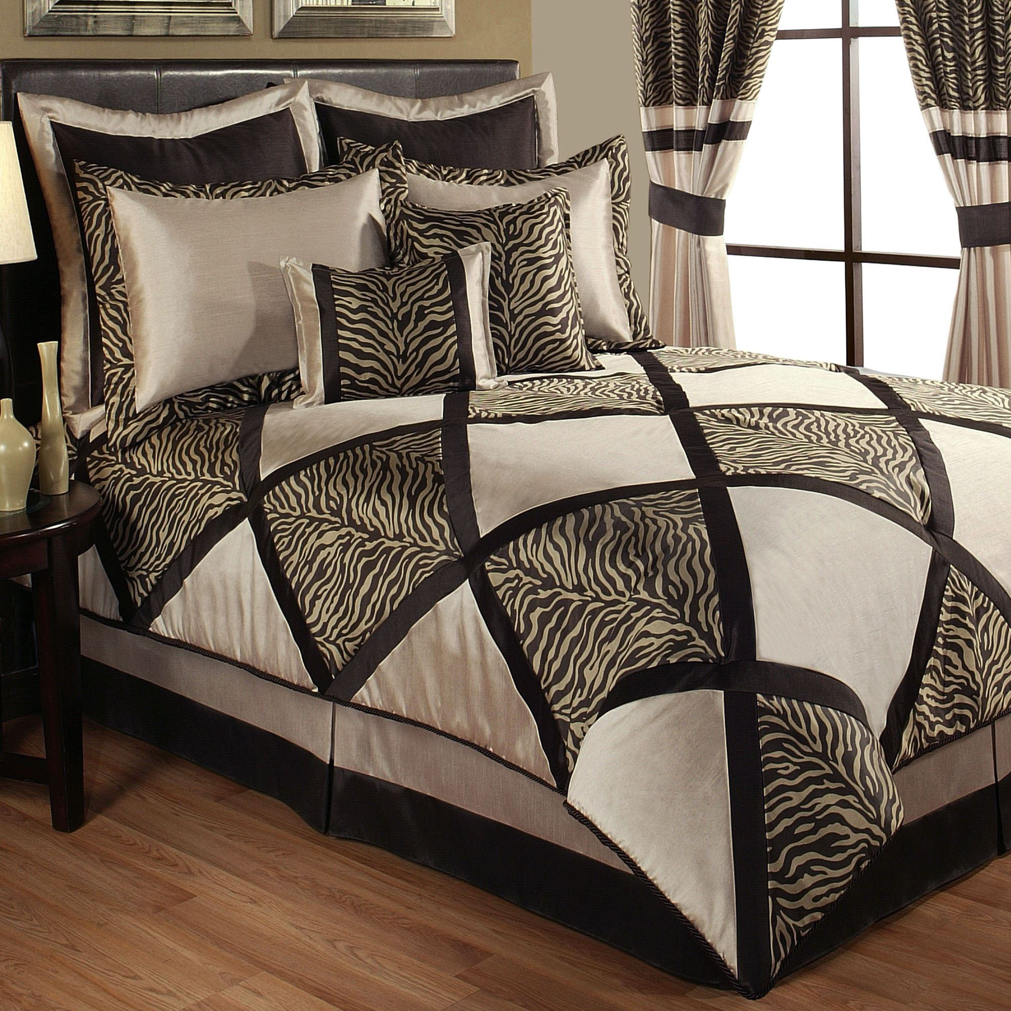 Leopard Print Themed Bedroom: True Safari Zebra Print Comforter Bedding