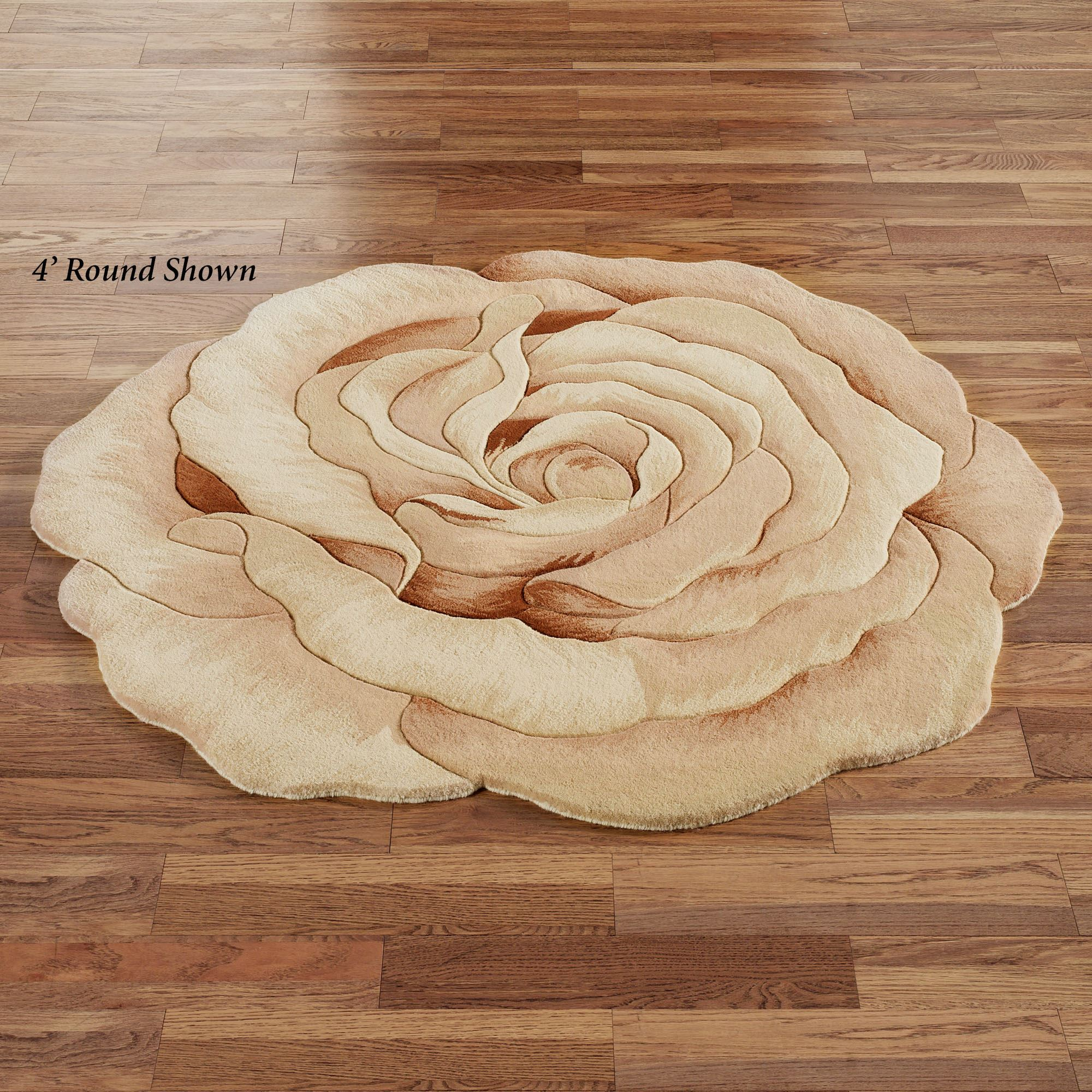 Rosetta Round Flower Shaped Rugs