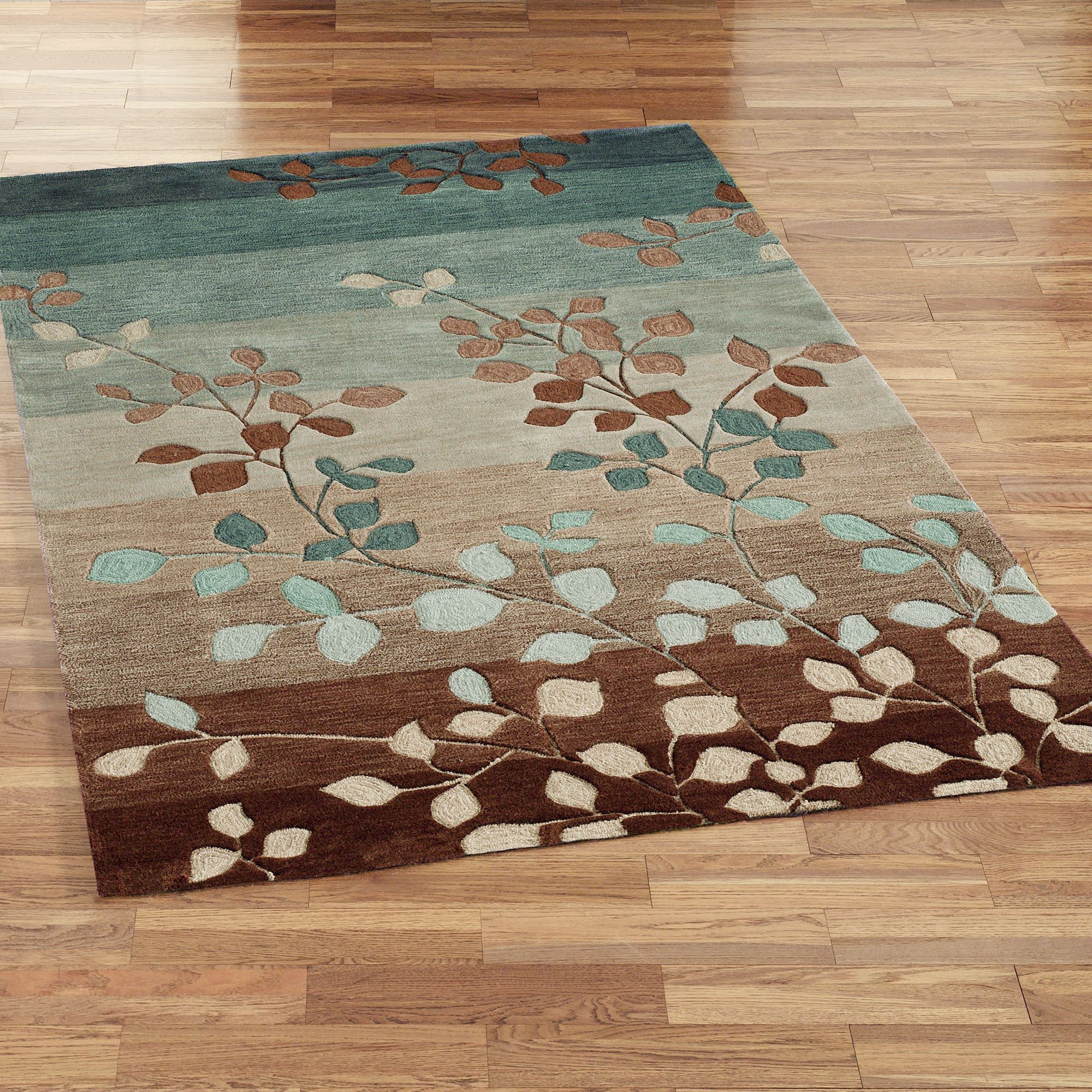 Sydney leaf hooked area rugs for Area carpets and rugs