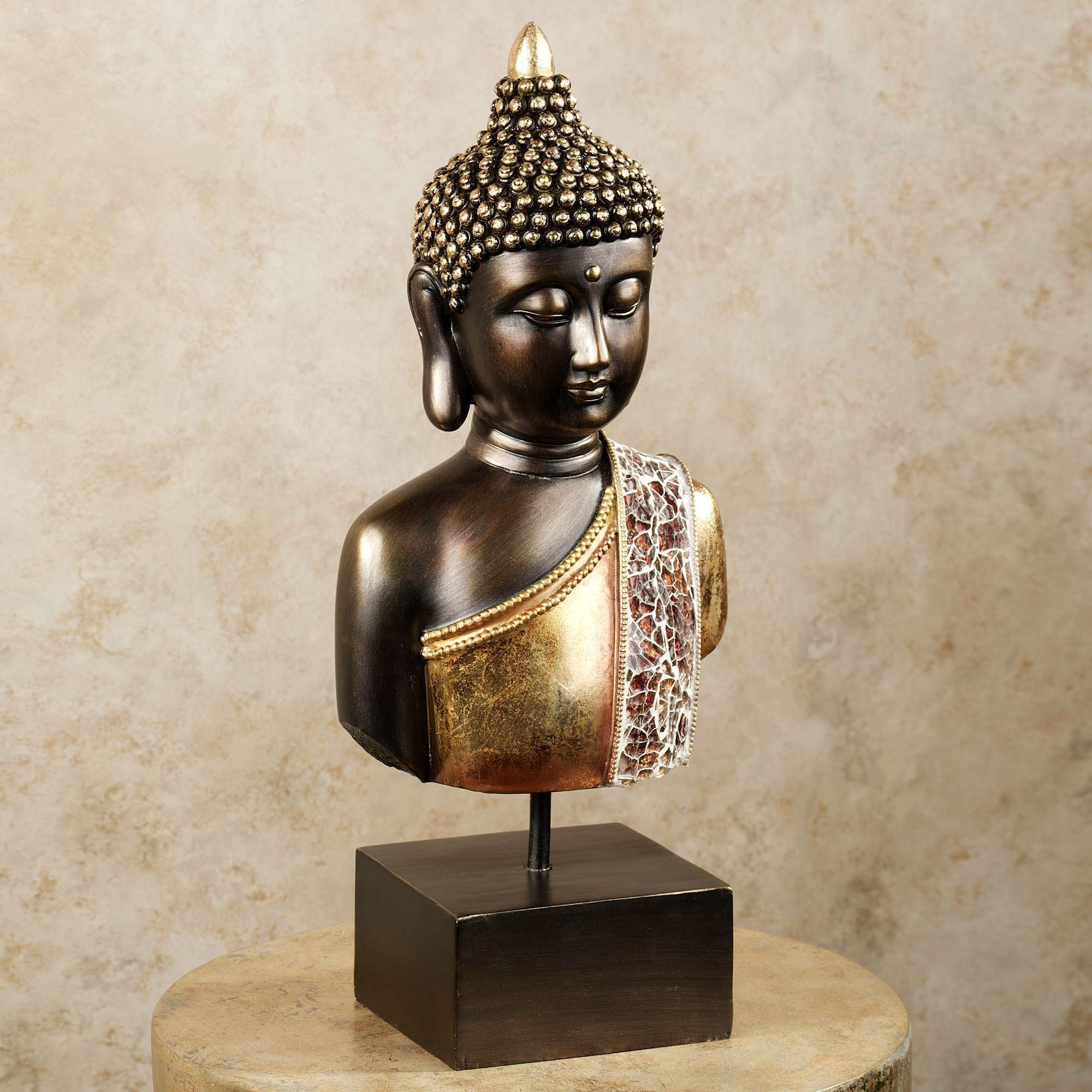 Delightful Quiet Meditation Table Sculpture Bronze. Click To Expand