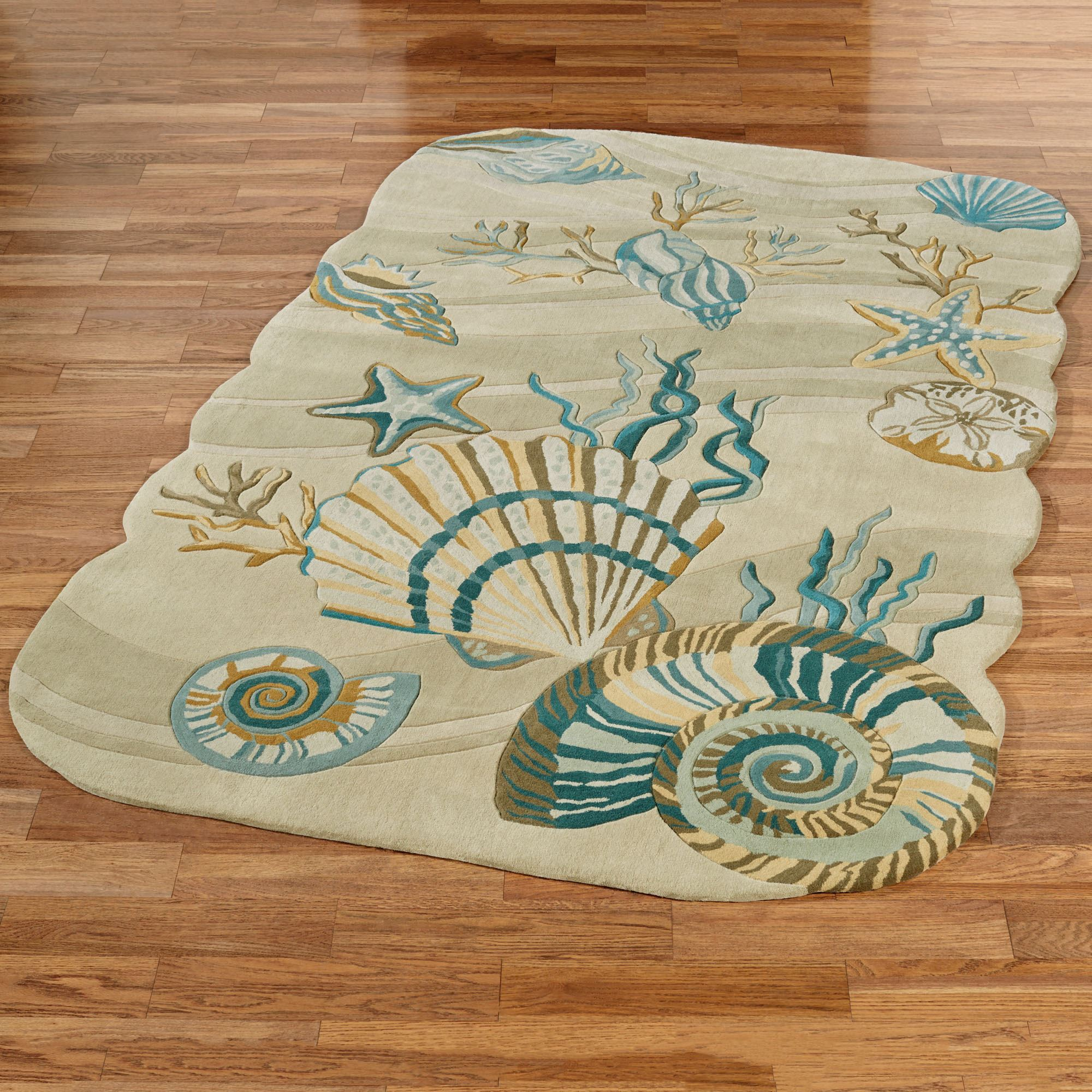 coastal dream seashell area rugs. Black Bedroom Furniture Sets. Home Design Ideas