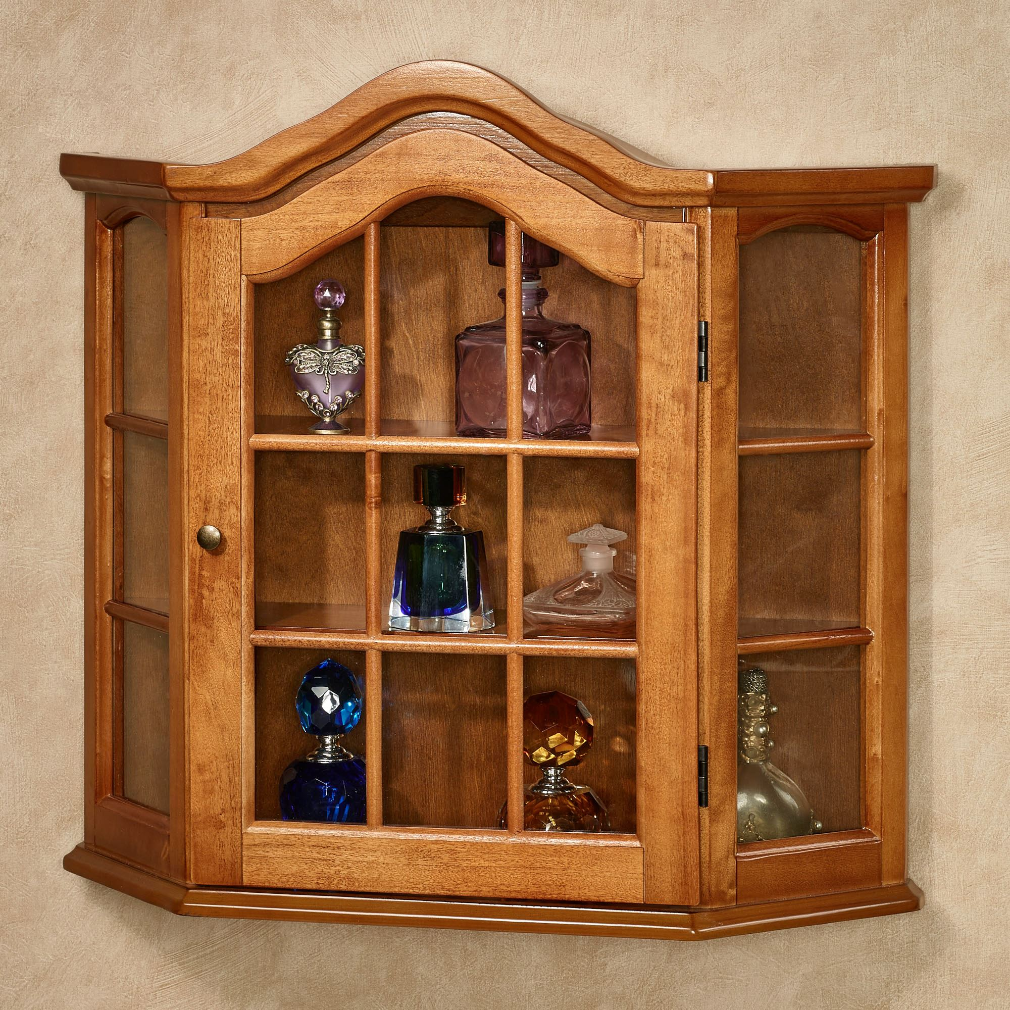 Wooden Wall Cabinets ~ Ayden wooden wall curio cabinet