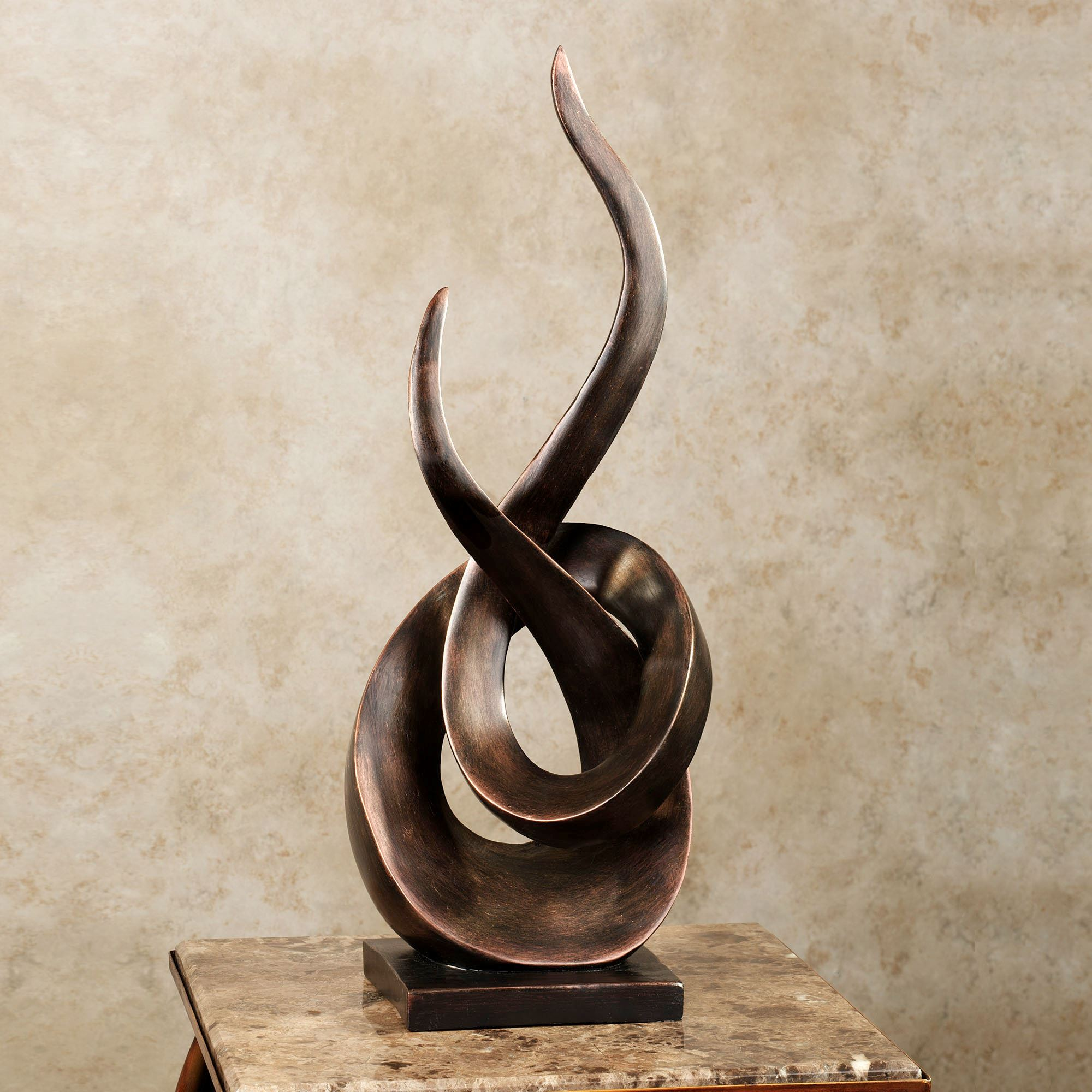 Entwined Contemporary Abstract Table Sculpture. Entwined Table Sculpture  Bronze. Click To Expand