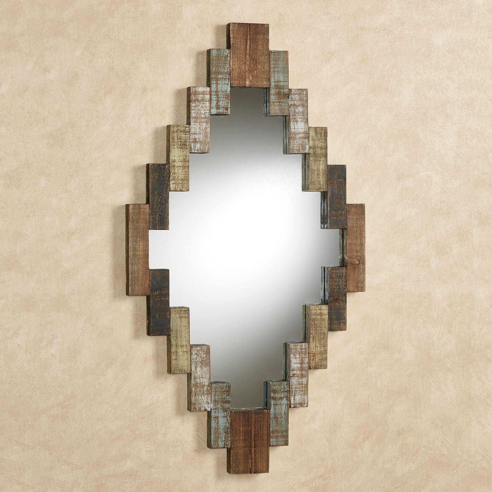 Canyon Reflections Diamond Shaped Rustic Wall Mirror