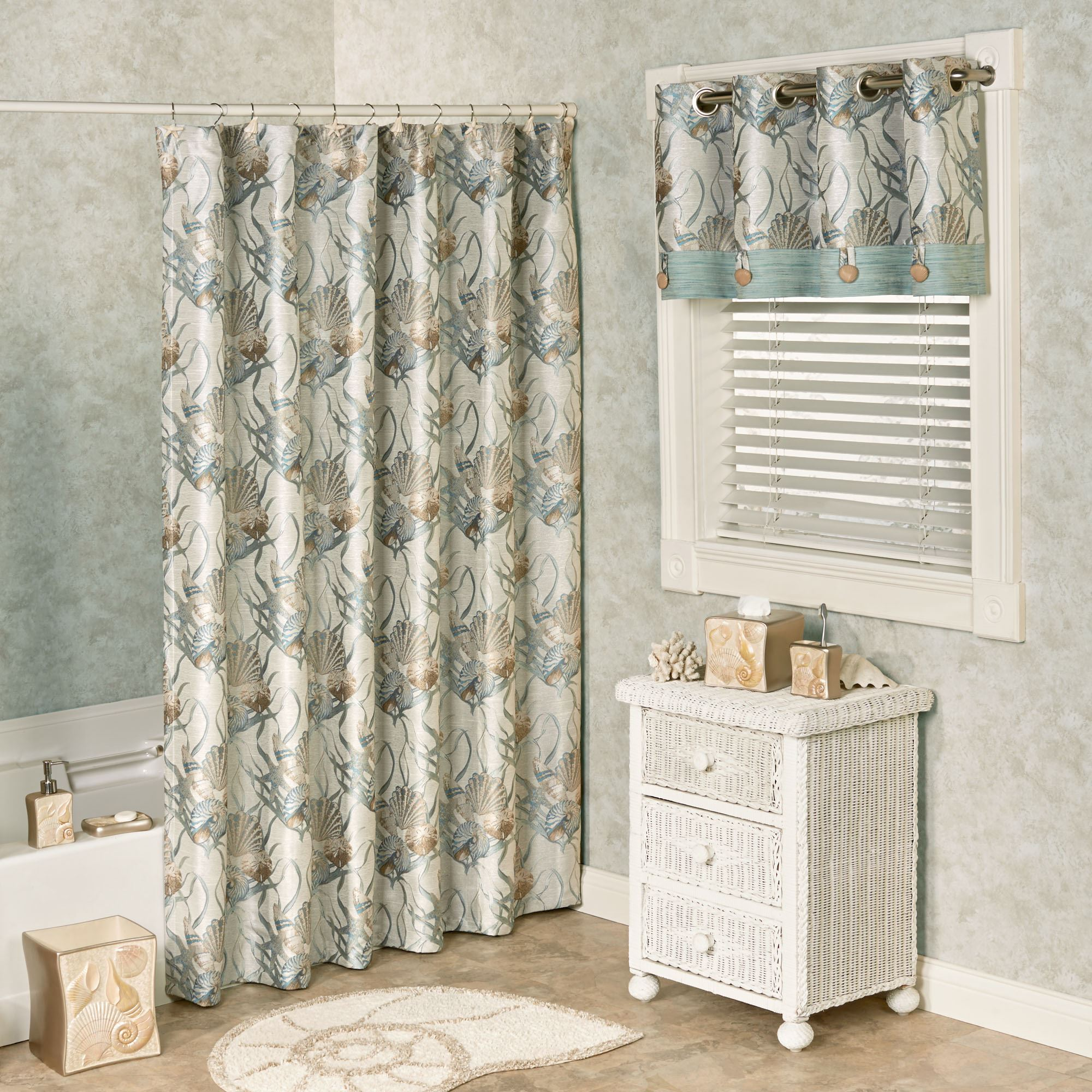 Coastal Dream Seashell Shower Curtain