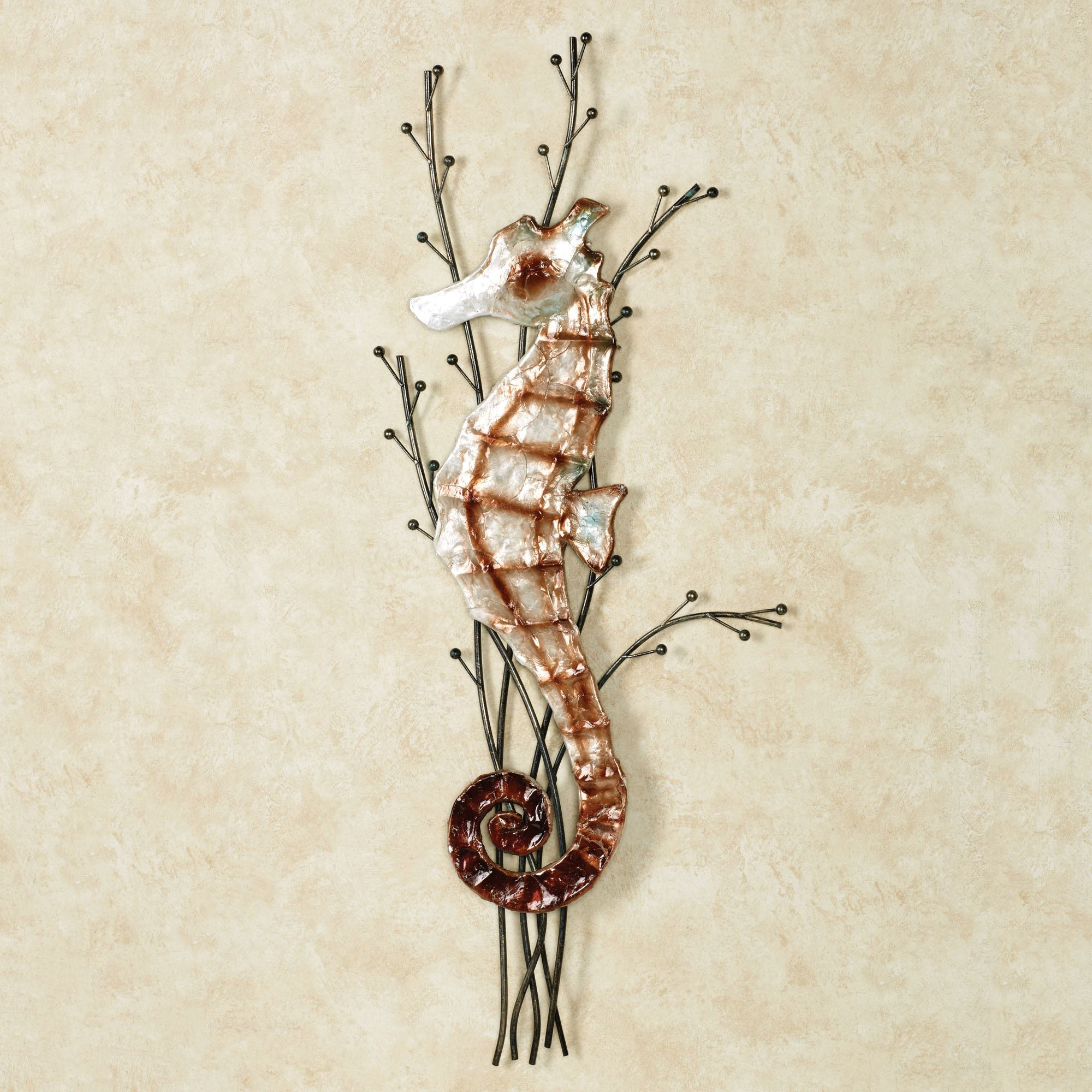 Touch to zoom & Atlantic Seahorse Metal Wall Art
