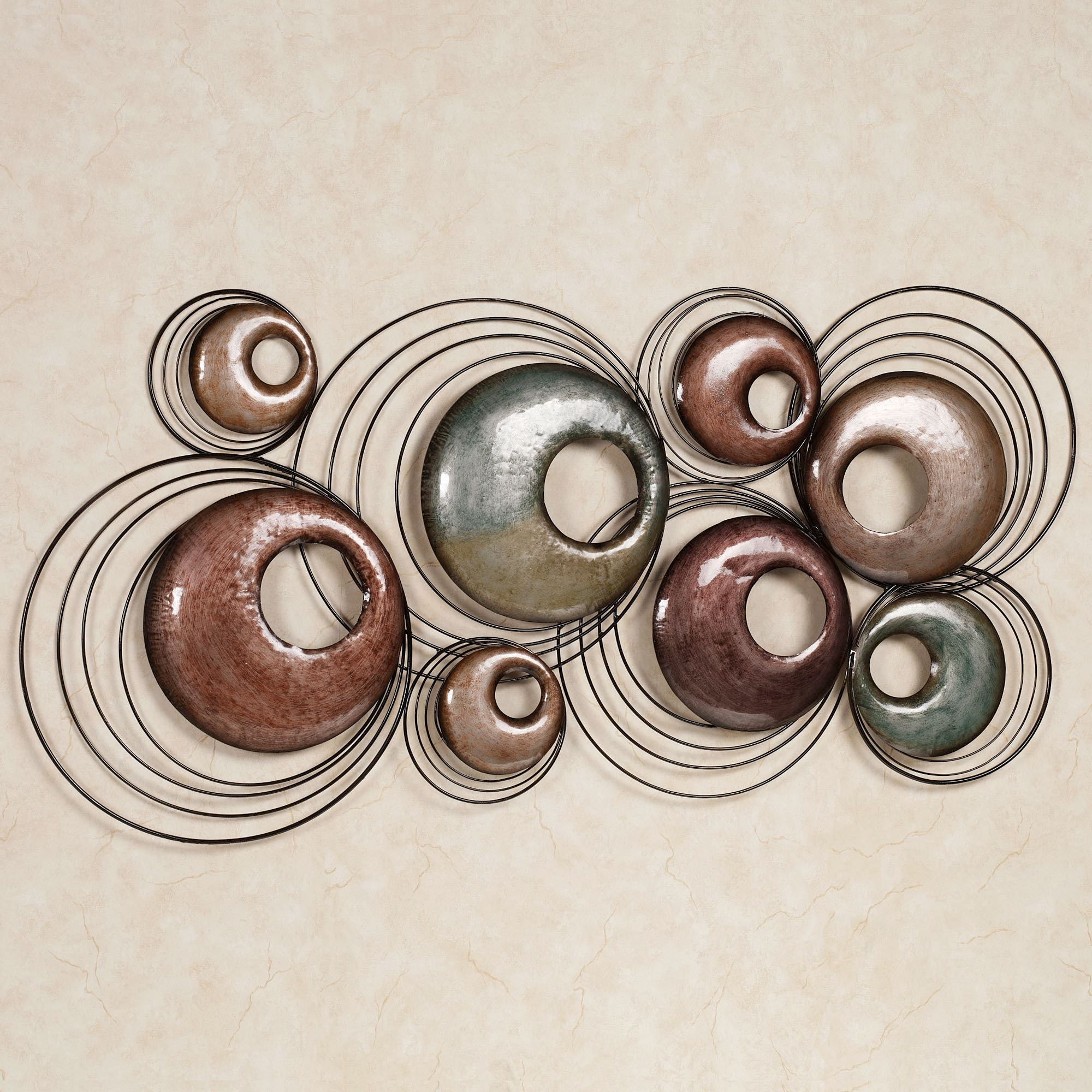 Round Iron Wall Decor Echo Metal Wall Sculpture Art