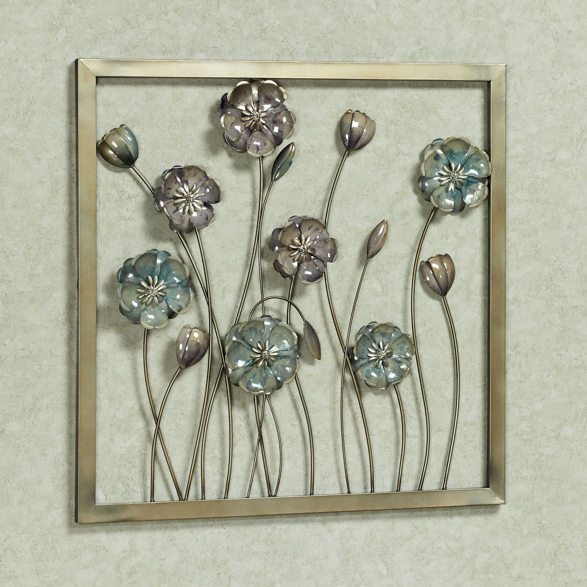 Floral Salute Square Metal Wall Art