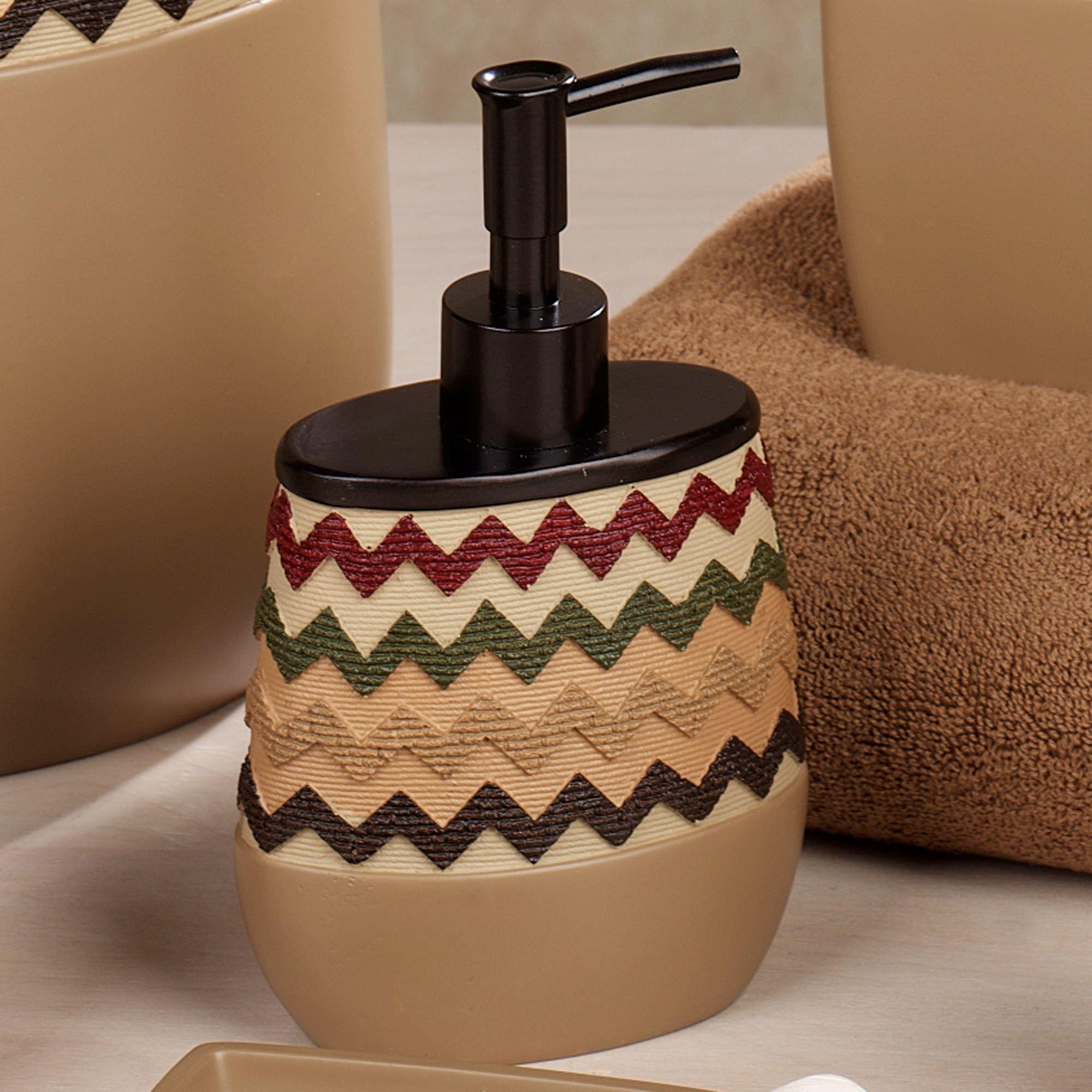 Waves Lotion Soap Dispenser Tan Brown