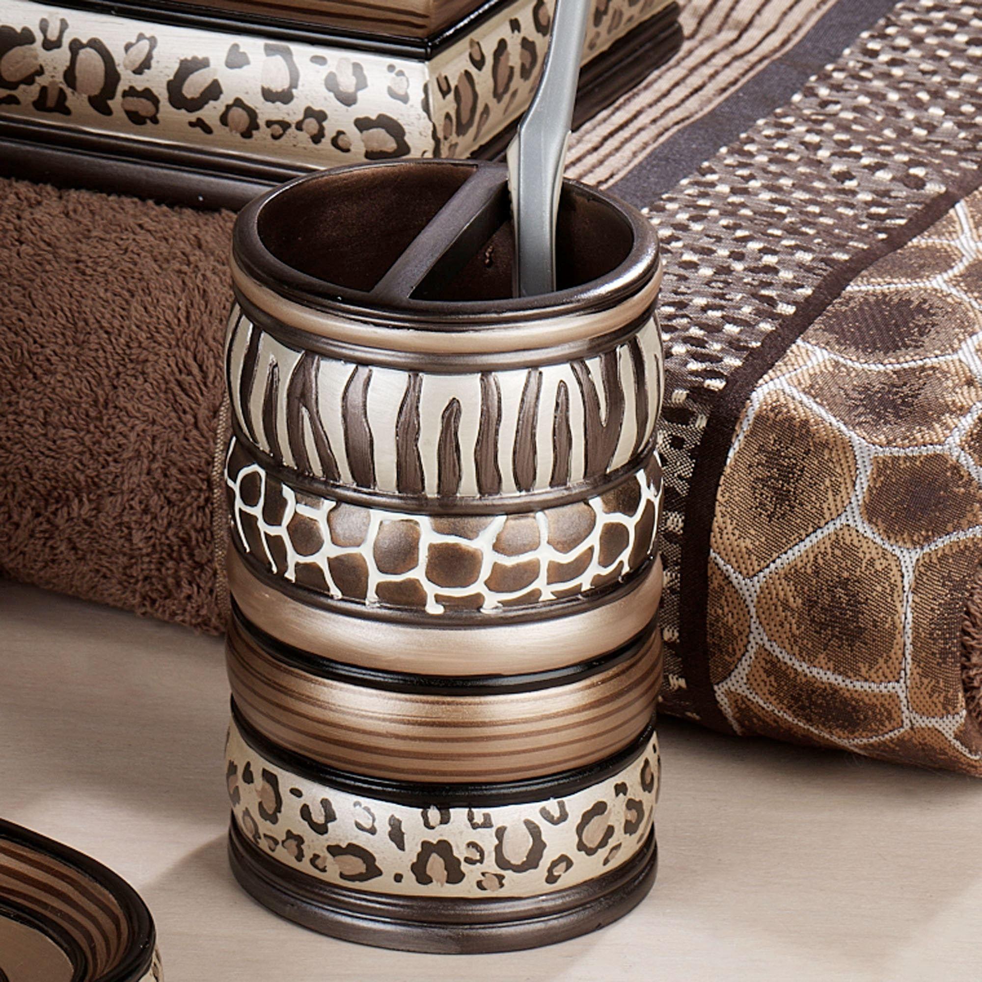 Safari Stripes Animal Print Bath
