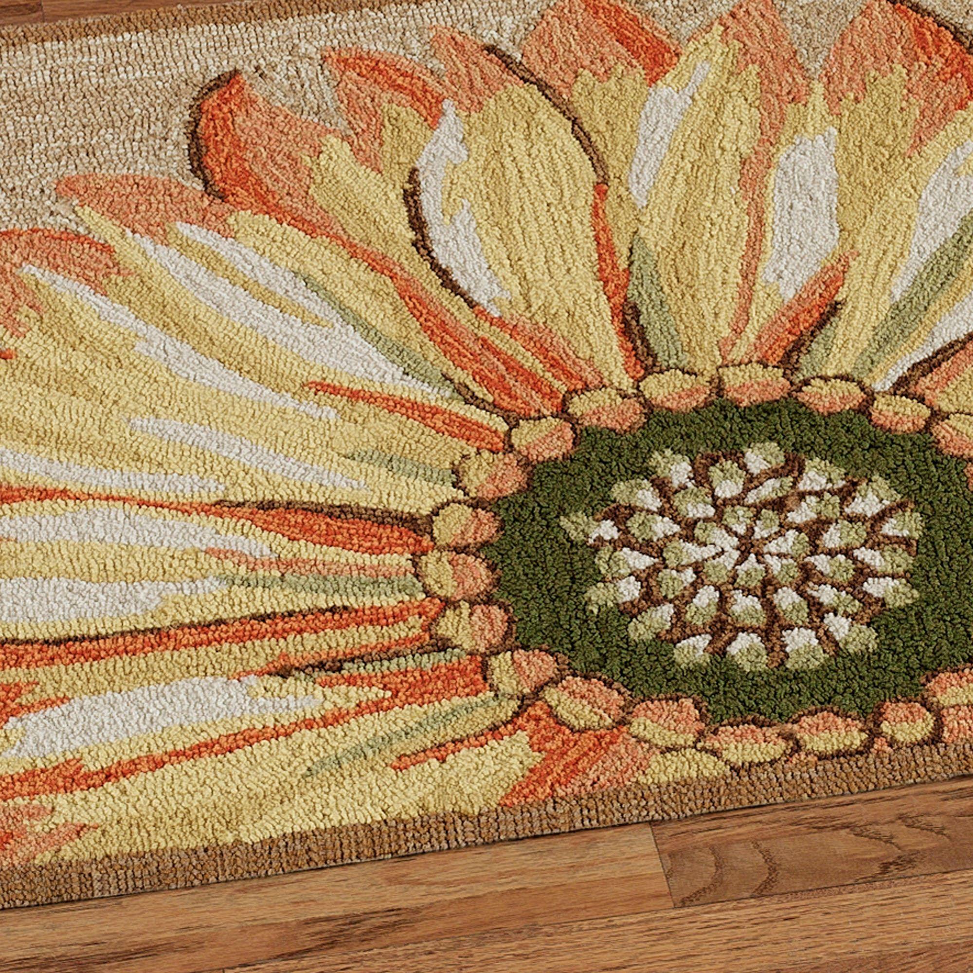 Sunflower Round Rug Multi Warm
