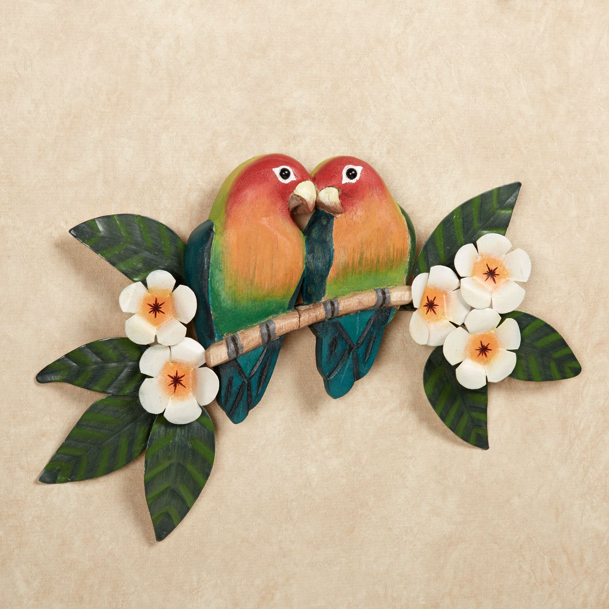 Lovebirds Parrot Wall Art Multi Bright. Touch to zoom & Lovebirds Parrot Indoor Outdoor Wall Art