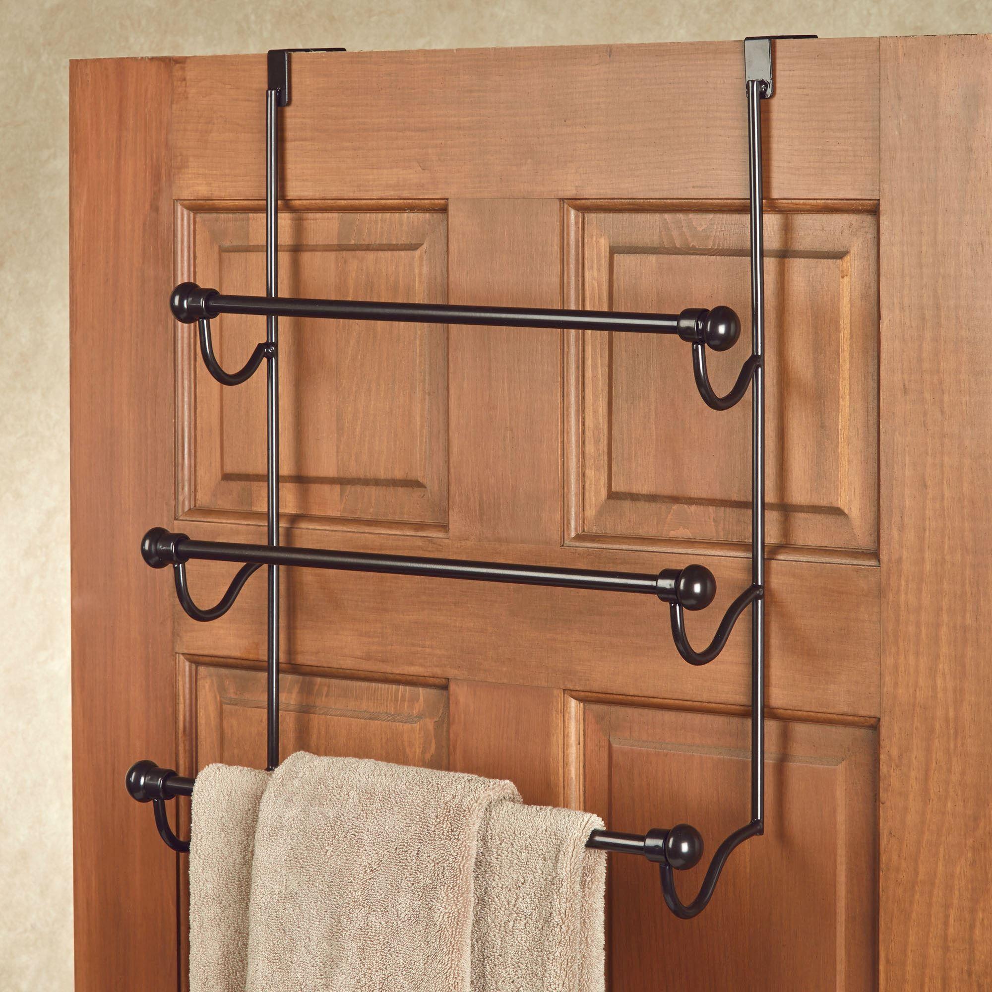 Uncategorized Towel Hangers For Doors bronze over the door three bar towel rack old world click to expand