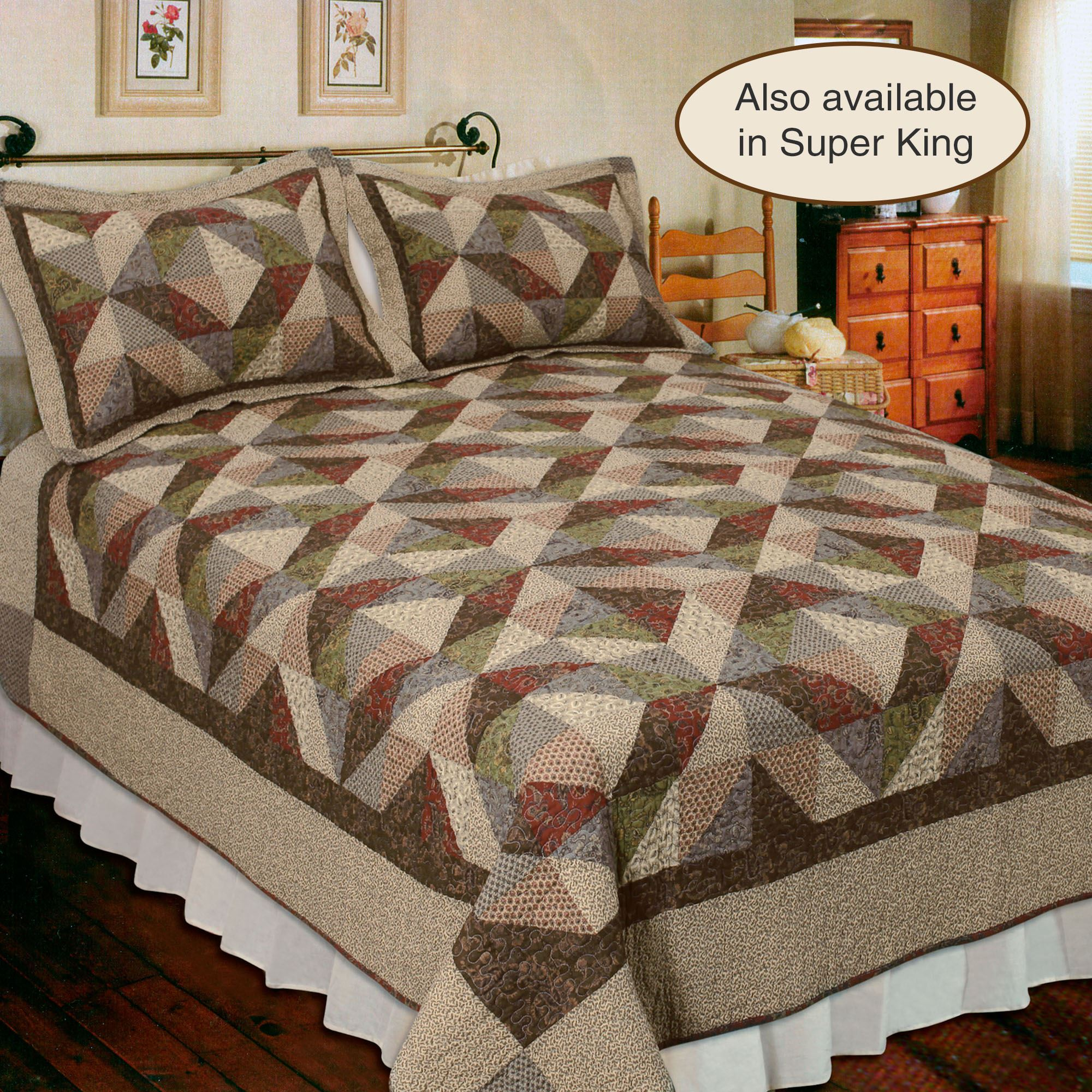 Country Cottage Cotton Patchwork Quilt Bedding : country quilts and bedding - Adamdwight.com