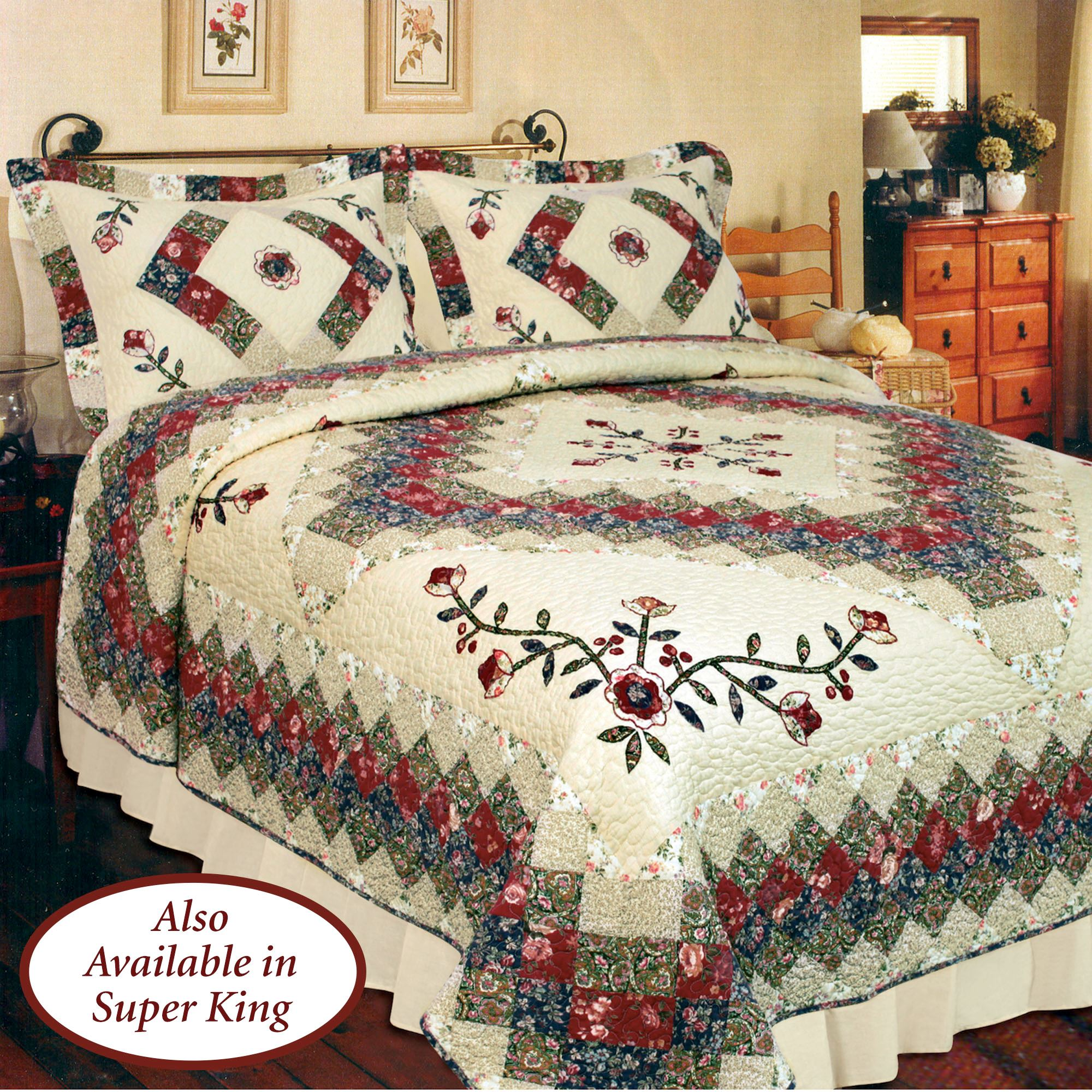 Victorian Treasures Floral Patchwork Quilt Bedding