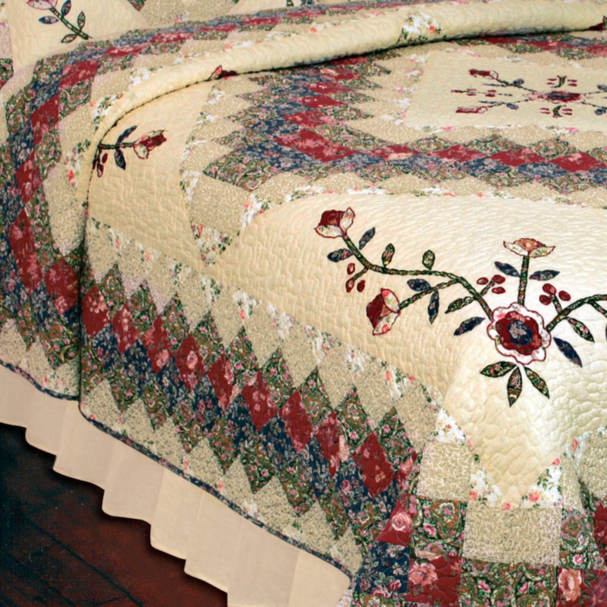 Victorian Treasures Floral Patchwork Quilt Bedding