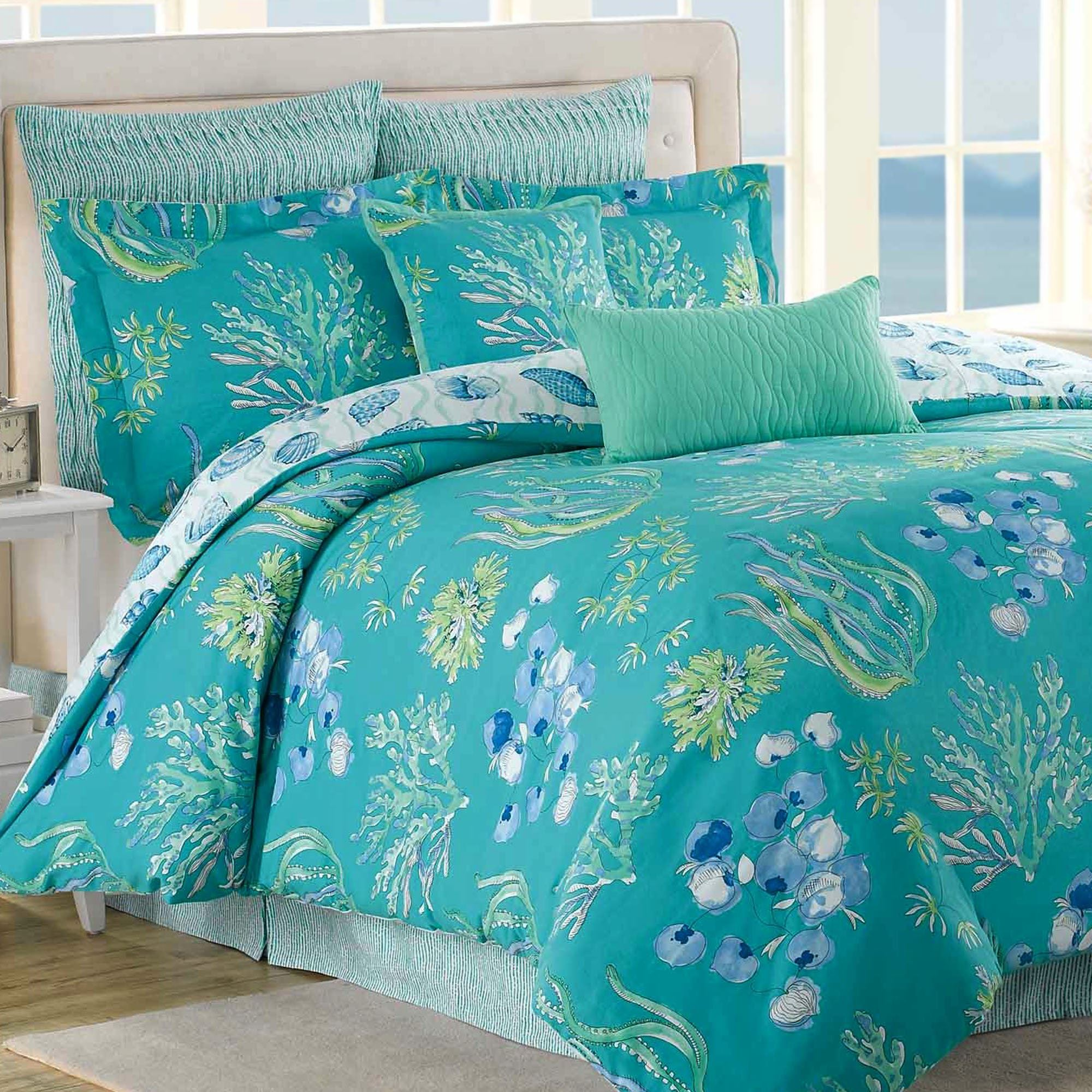 Beachcomber turquoise ocean 8 pc comforter bed set - Bedroom sheets and comforter sets ...