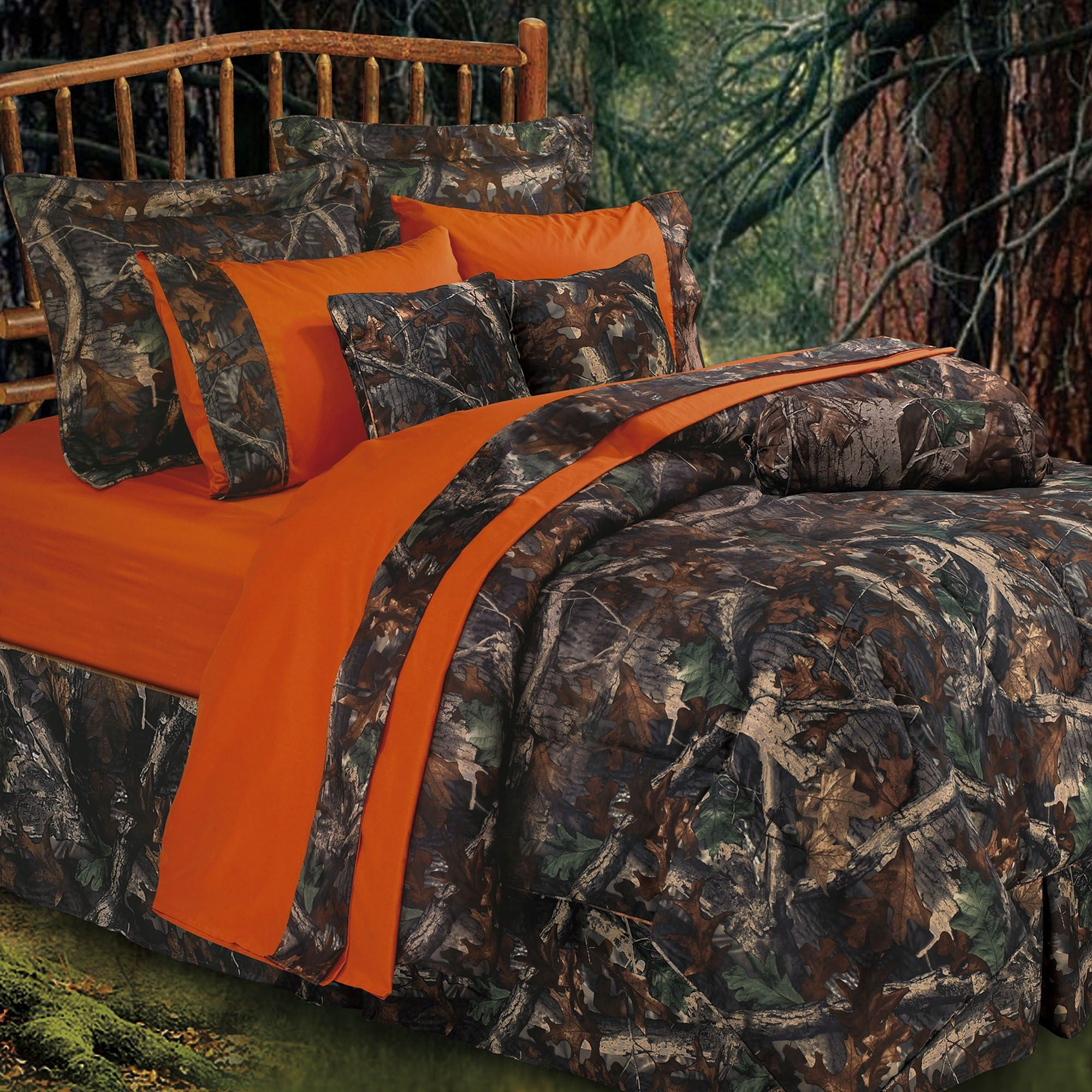 Oak Camo Comforter Bed Set Multi Warm
