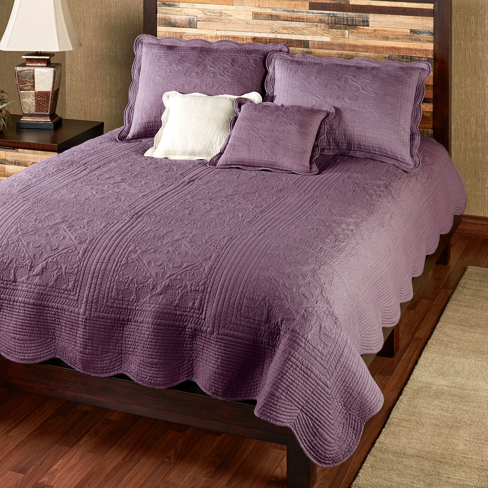 Venice Squares Solid Color Quilt Bedding : purple quilt bedding - Adamdwight.com