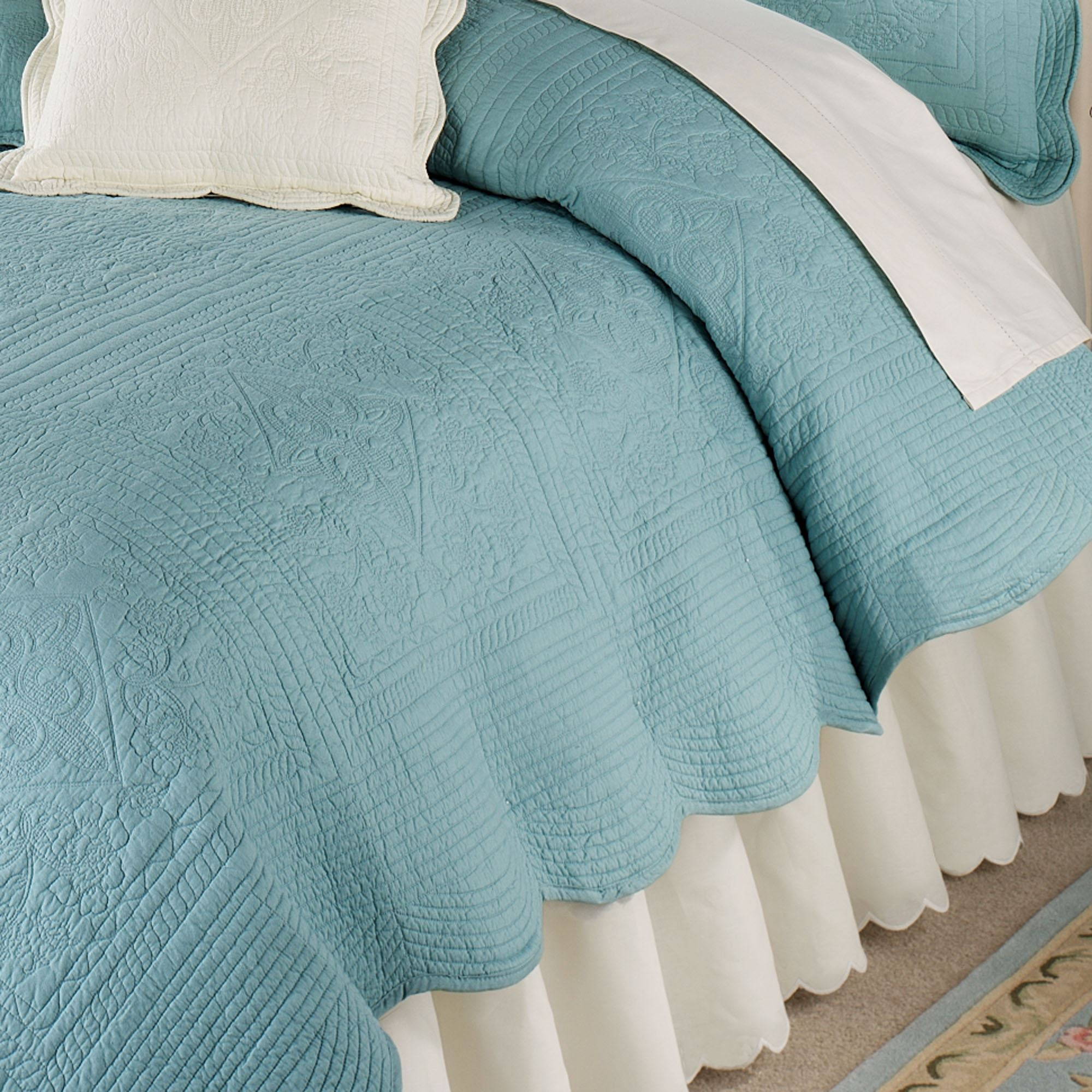 Venice Squares Solid Color Quilt Bedding : solid color quilts for bedding - Adamdwight.com