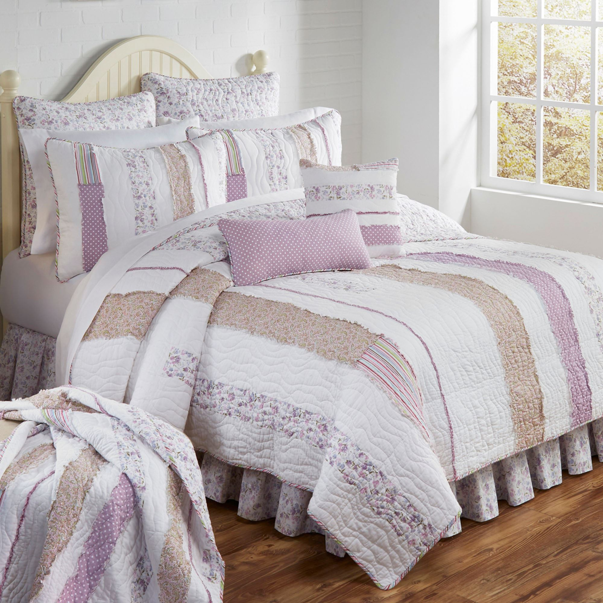 Lavender Rail Quilt Bedding By Donna Sharp