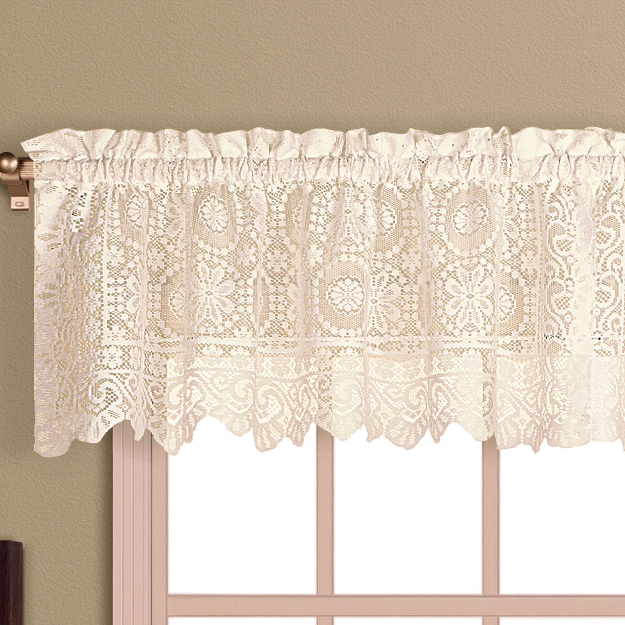 lace products alison lichtenberg valance curtain white
