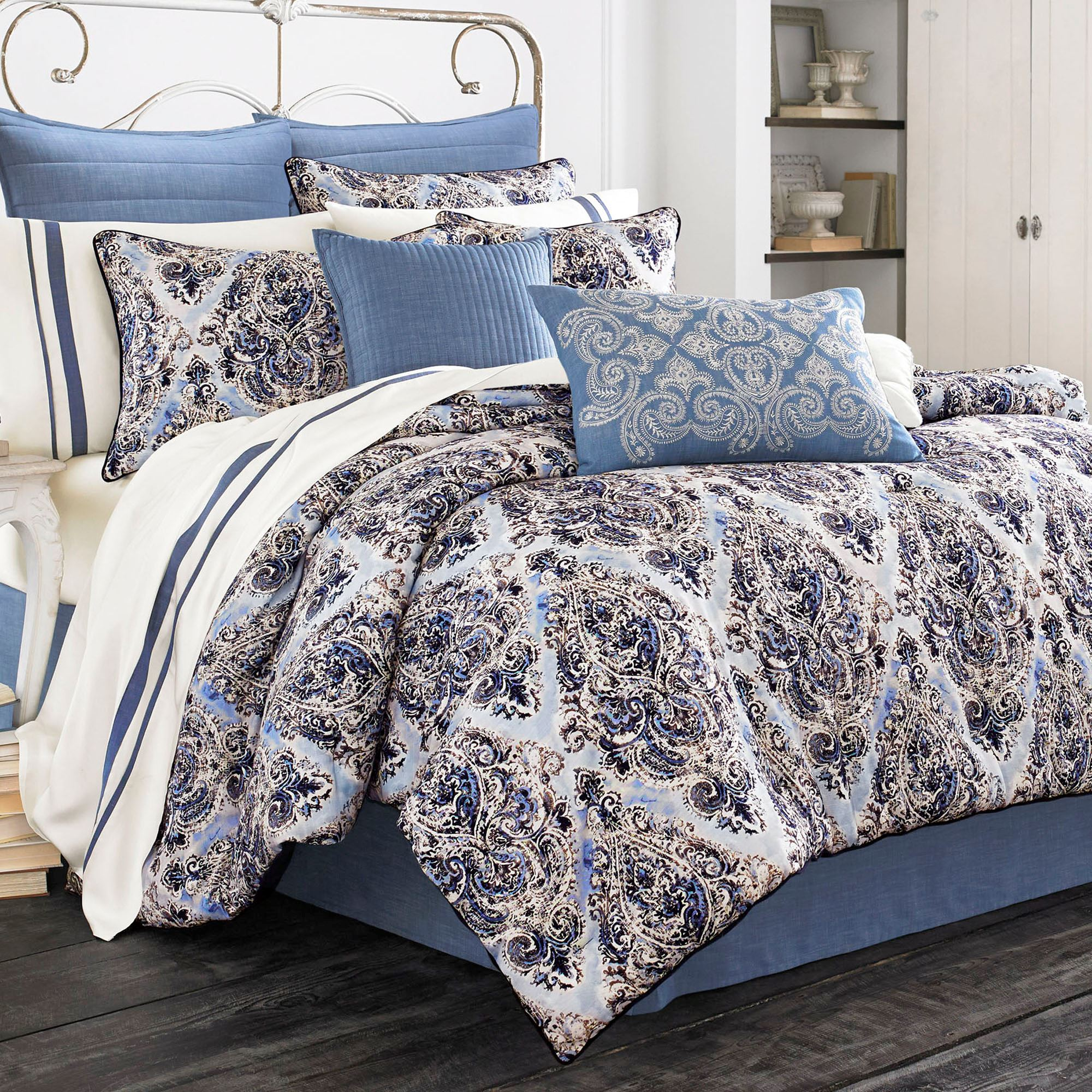 Santorini Indigo Medallion Comforter Bedding By Piper Amp Wright