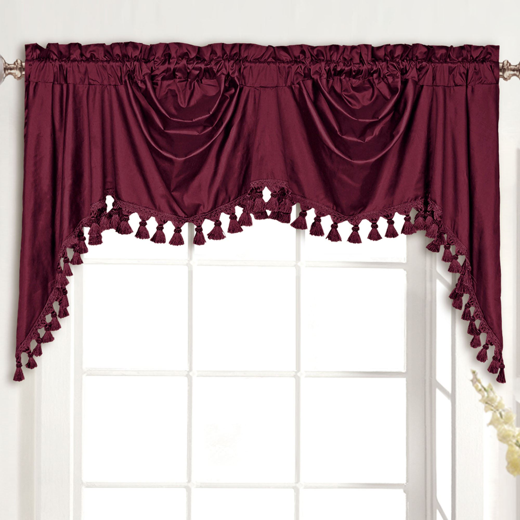 valance with latte blockout purple eyelet brown matching plum blackout valances sheer curtain drapes coffee blue itm