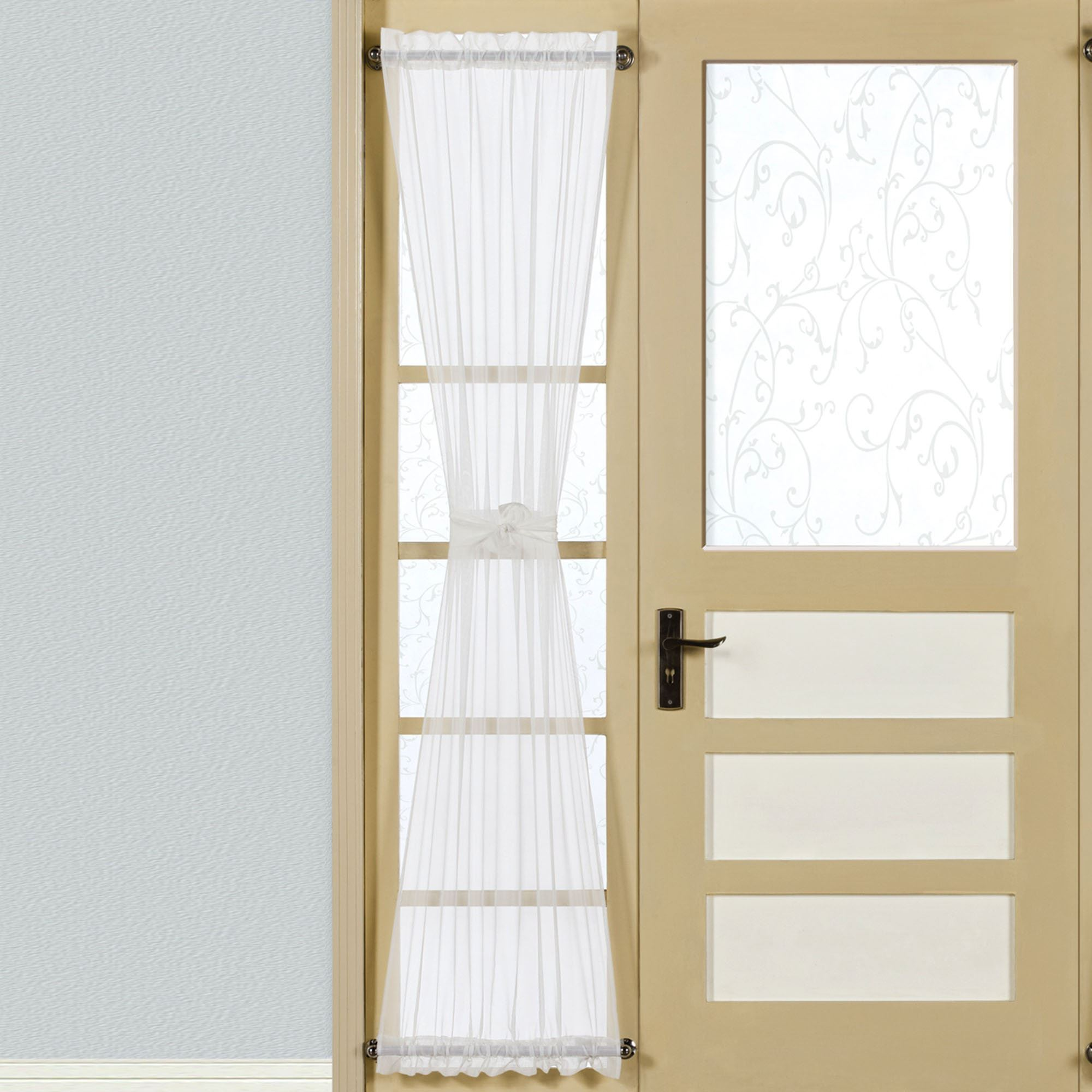 Clear sash curtain rods - Monte Carlo Sidelight Panel 28 X 72