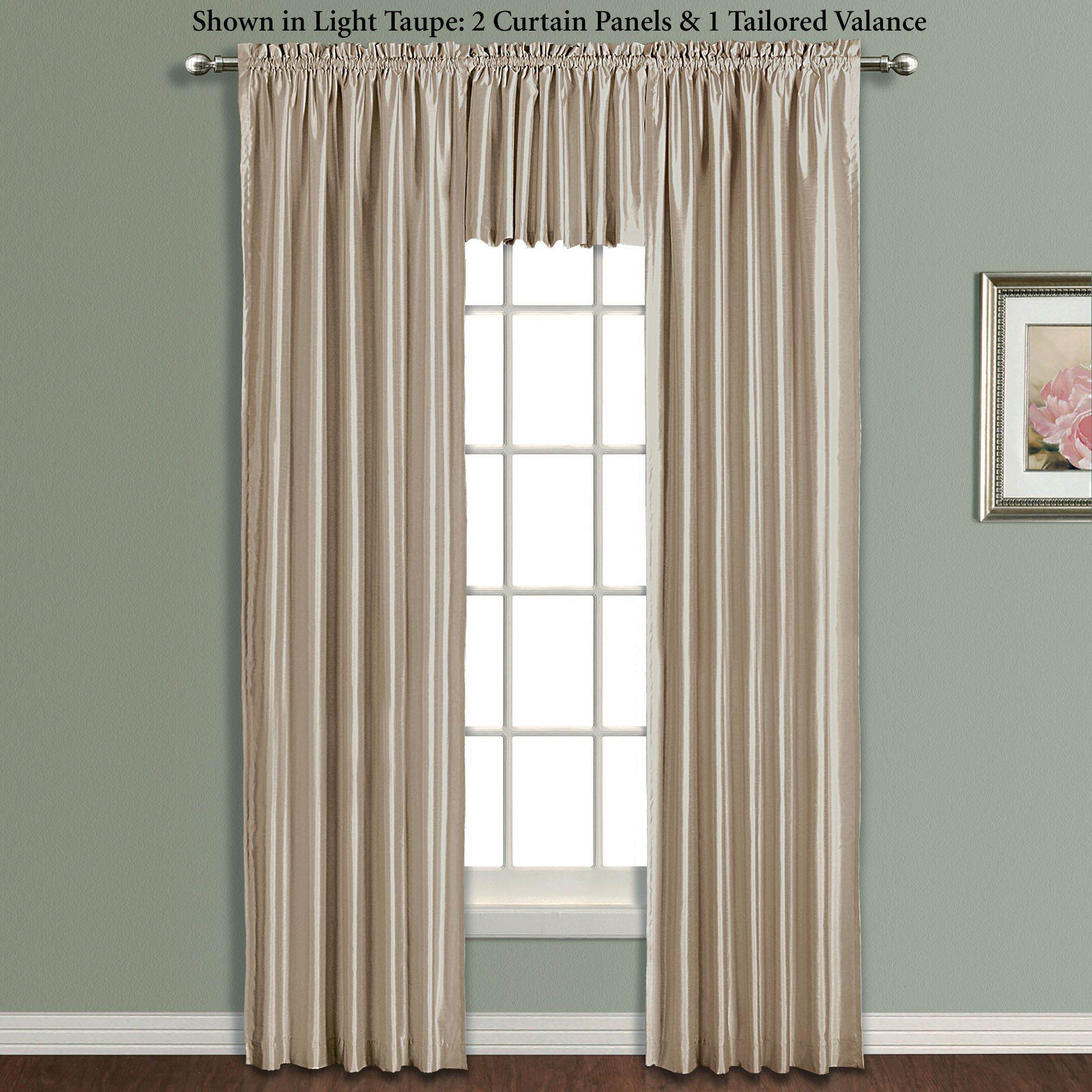 Annaleigh Faux Silk Tailored Window Treatment