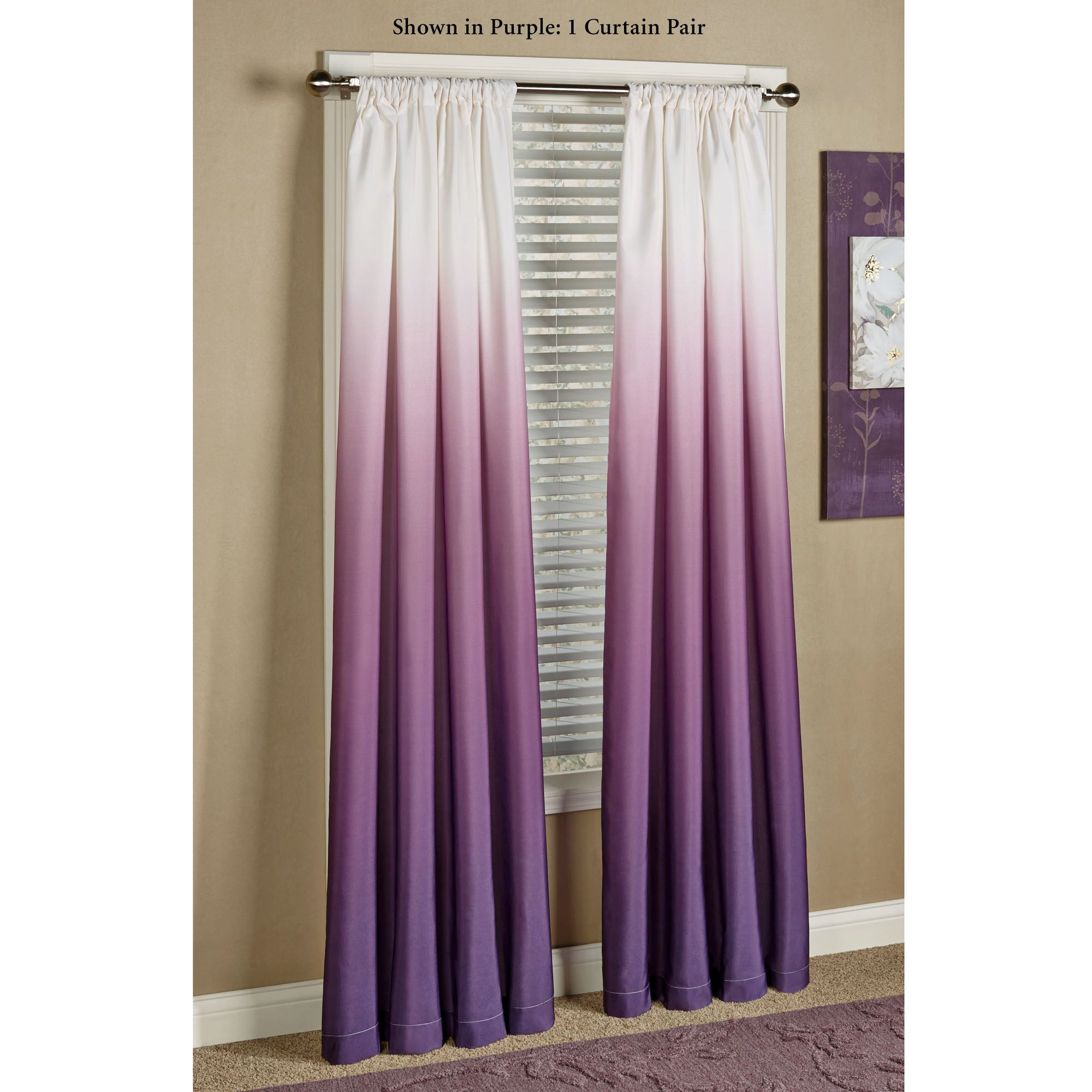 beautiful by ideas ring curtains drapes in looking ready top lined striped made sundour eylet blue