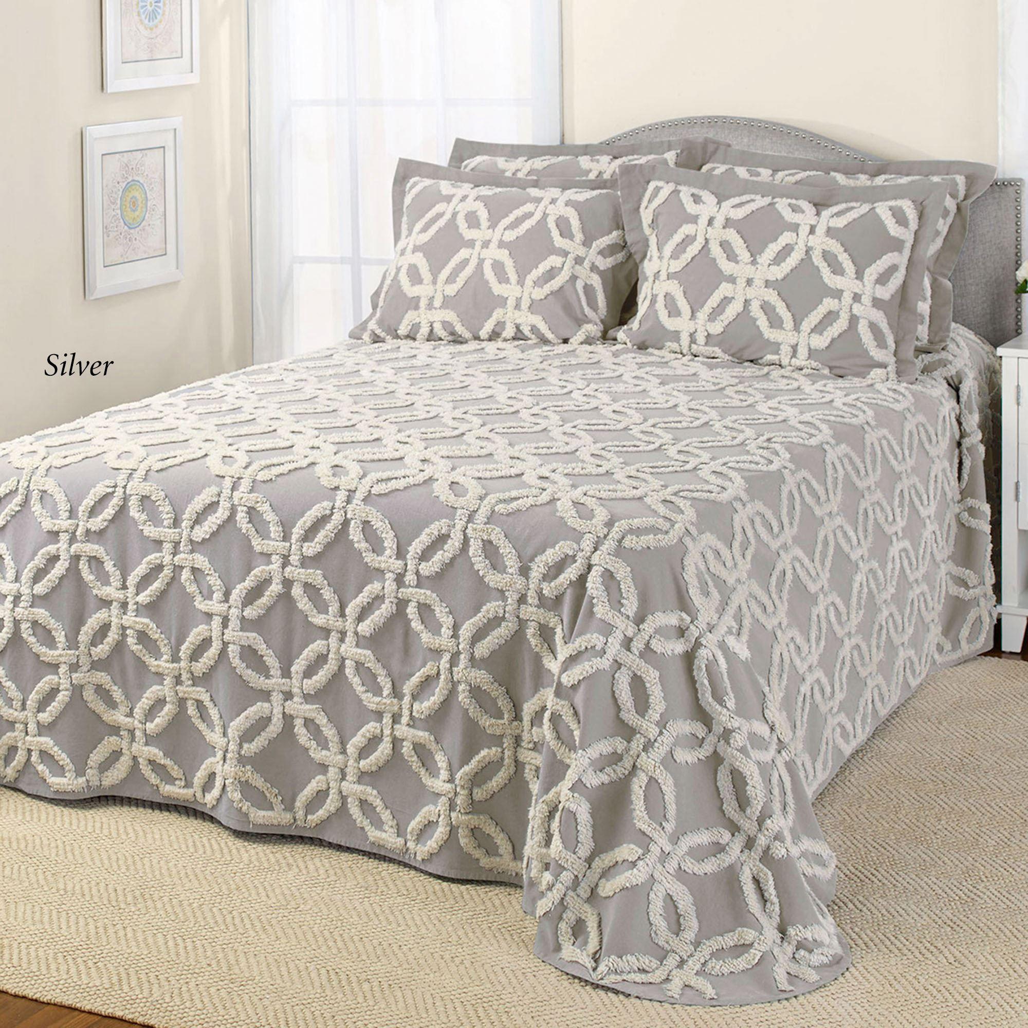 Chenille Bedspreads.Holden Wedding Ring Lightweight Chenille Bedspreads