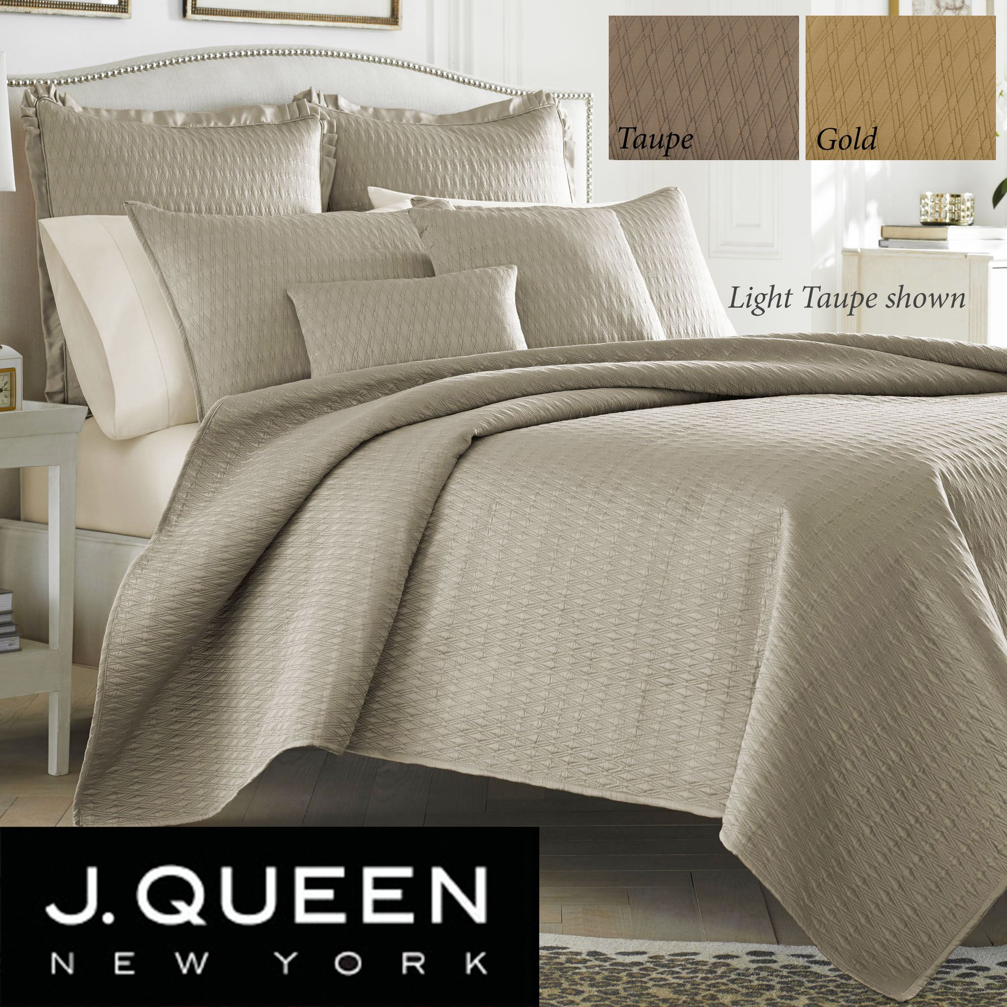 Hudson Poly Satin Quilted Coverlet Set By J Queen New York